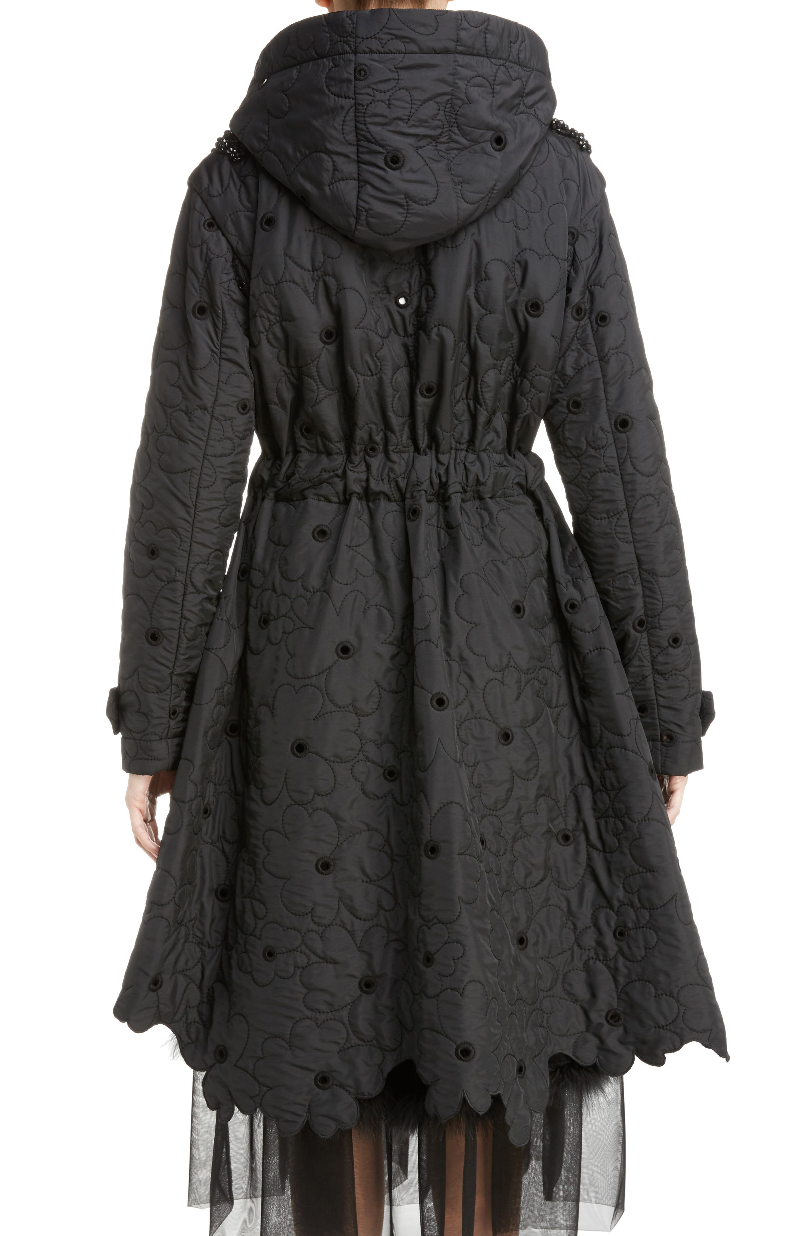 Alternate Image 2  - Simone Rocha Beaded Floral Quilted Parka
