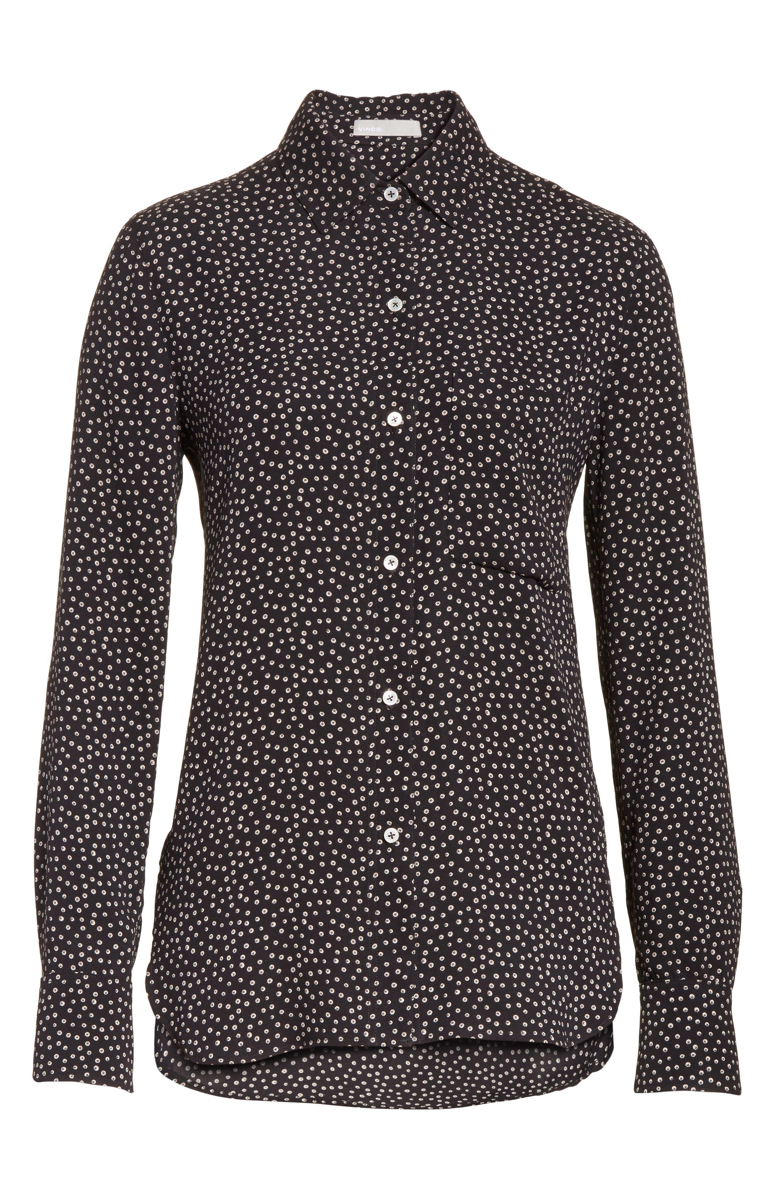 Alternate Image 6  - Vince Celestial Polka Dot Slim Shirt