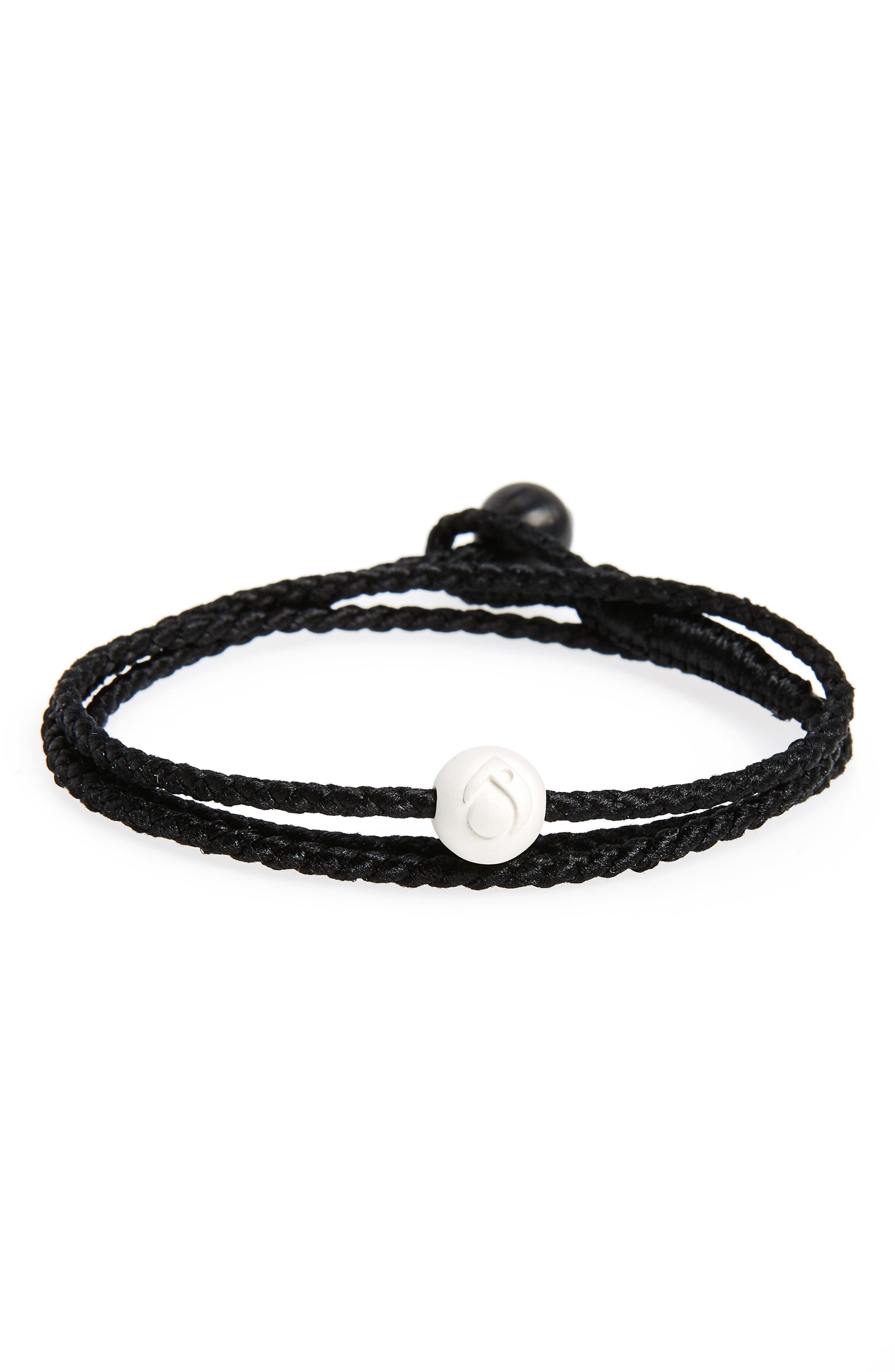 Triple Wrap Bracelet,                         Main,                         color, Black