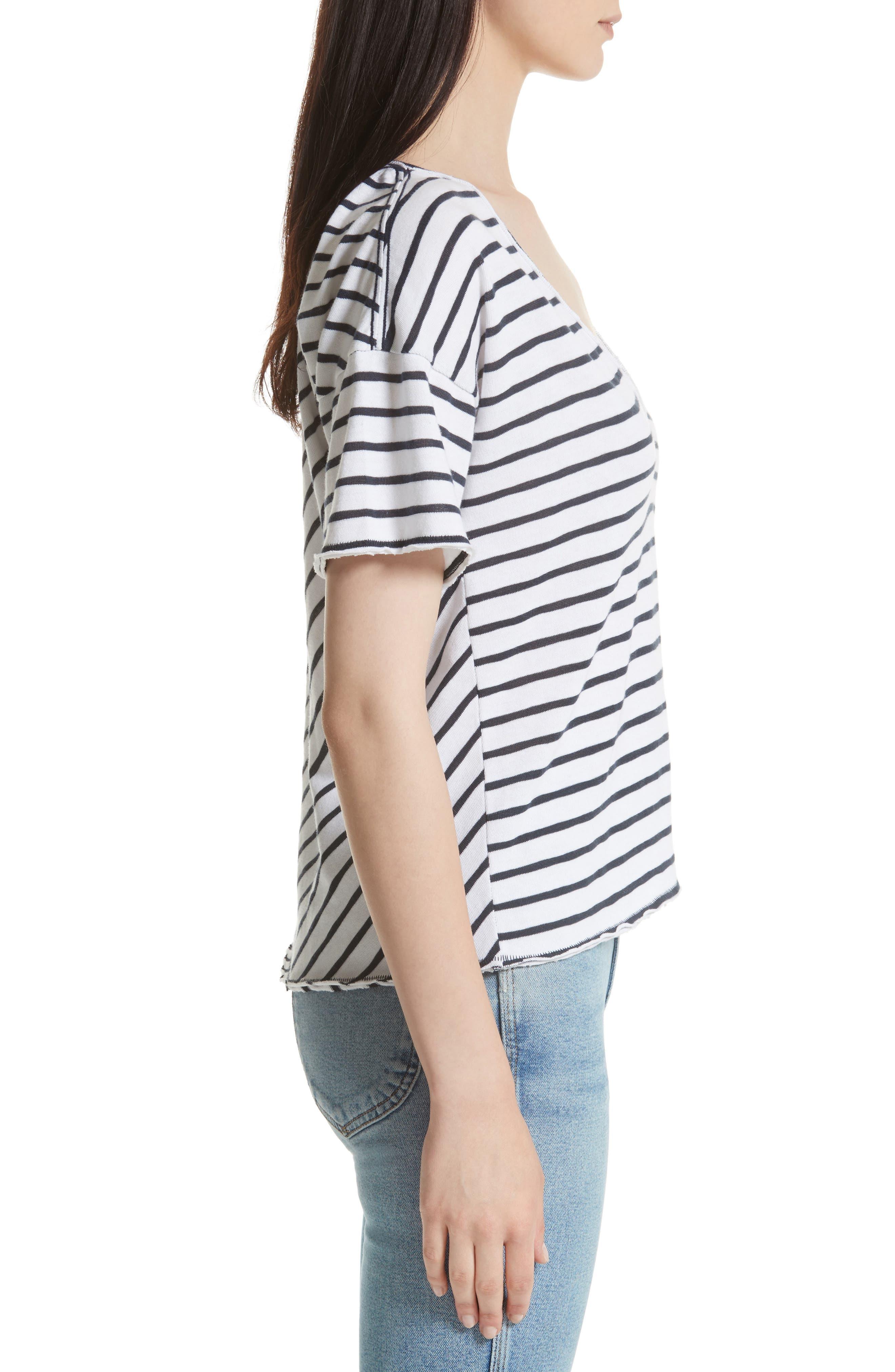 Alternate Image 3  - rag & bone/JEAN Dakota Stripe Tee
