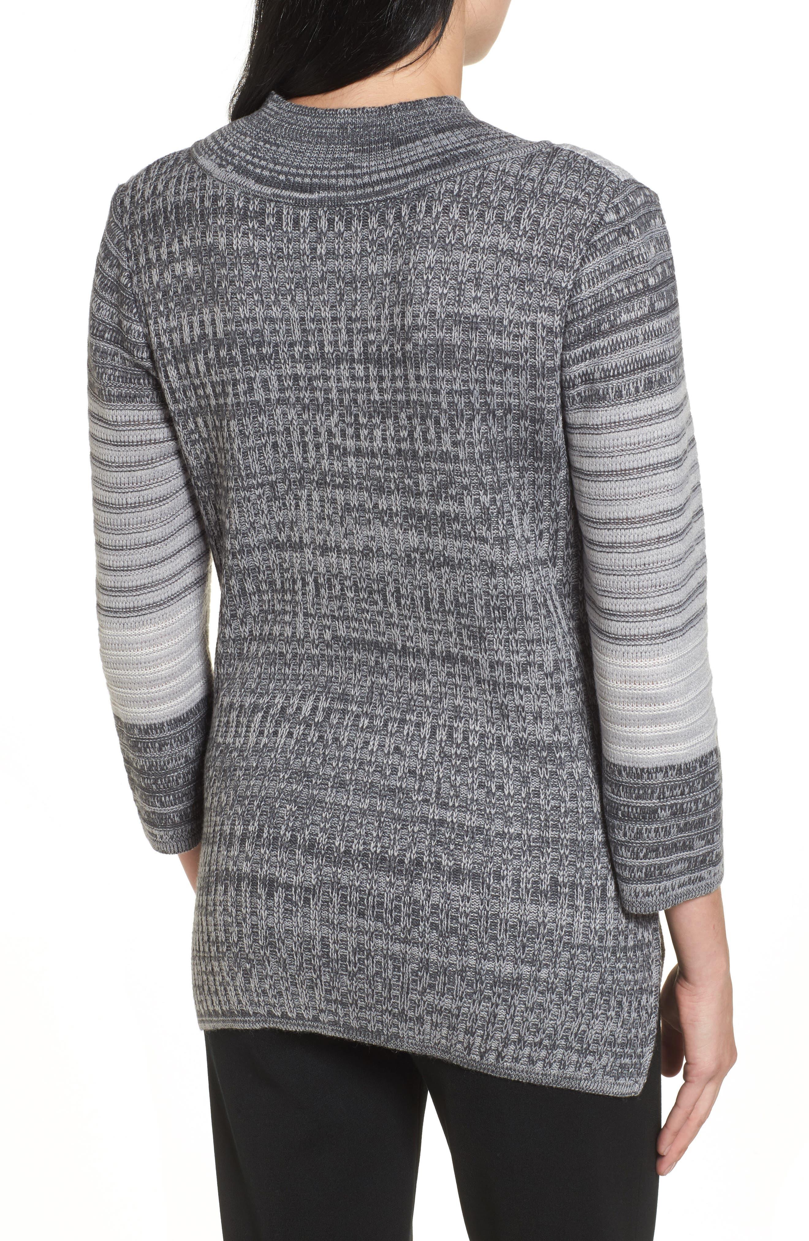 Alternate Image 2  - Ming Wang Mixed Knit Tunic Sweater