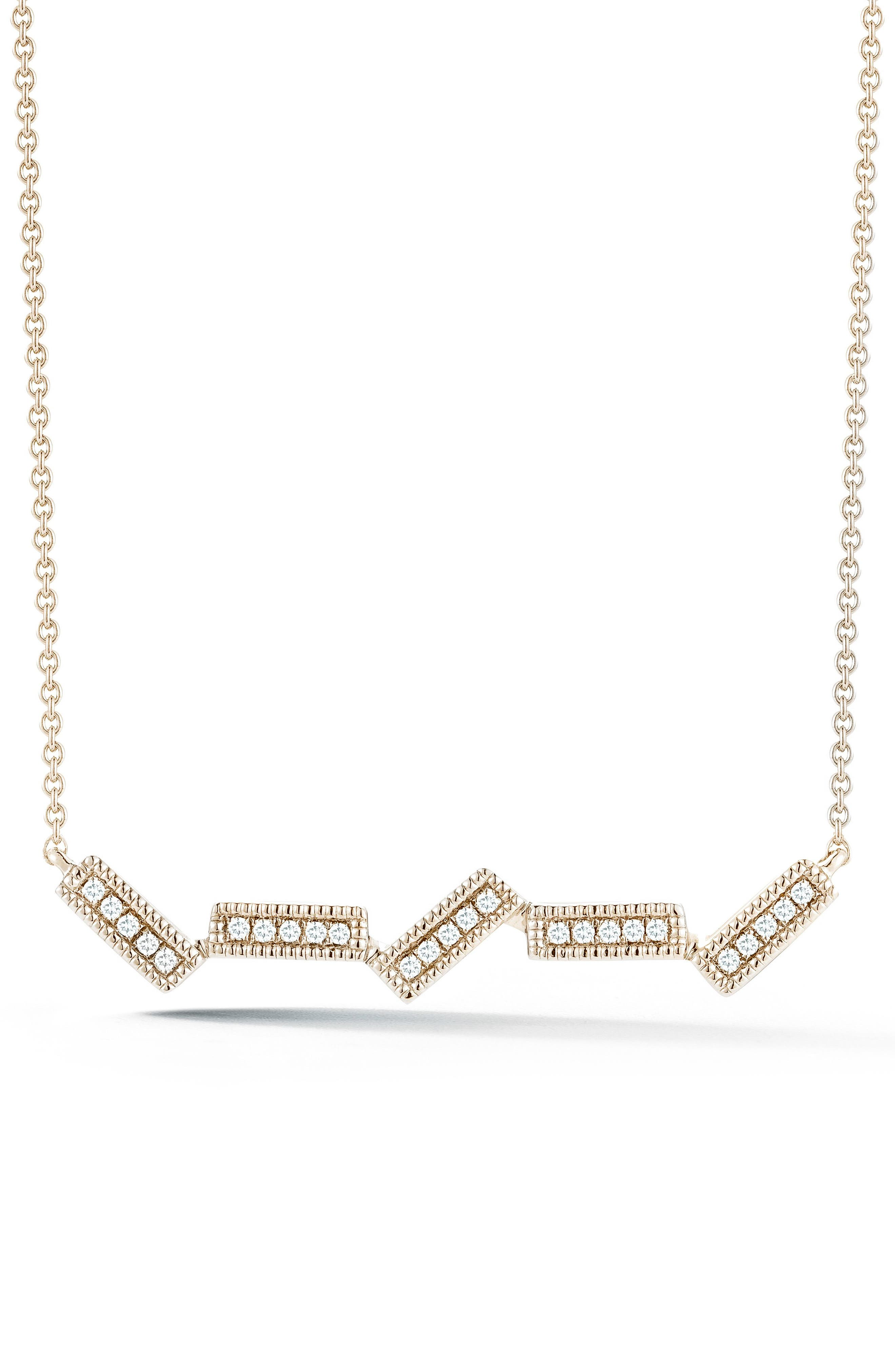 Sylvie Rose Five-Bar Diamond Pendant Necklace,                             Main thumbnail 1, color,                             Yellow Gold