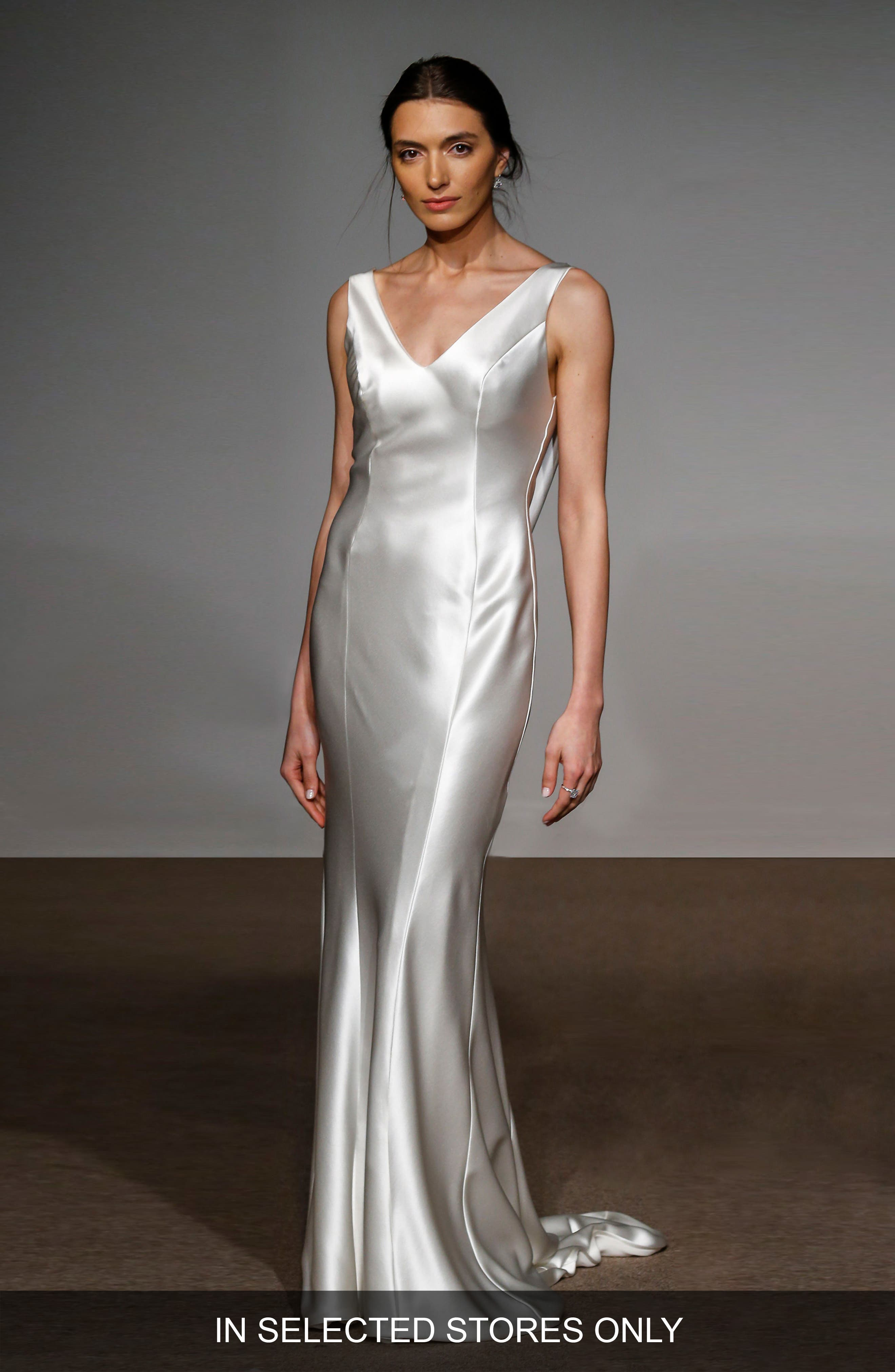 Alternate Image 1 Selected - Anna Maier Couture Rita Silk Column Gown
