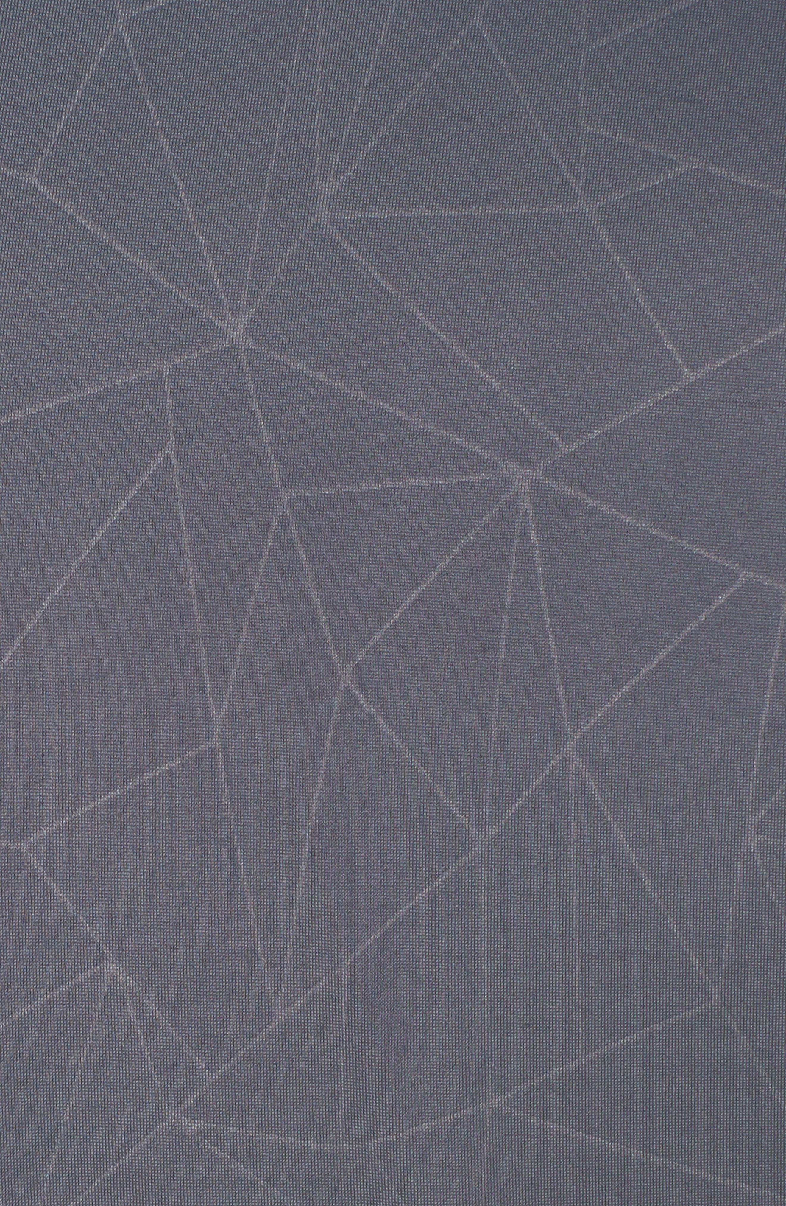 High Waist Print Leggings,                             Alternate thumbnail 6, color,                             Slate Grey Geo