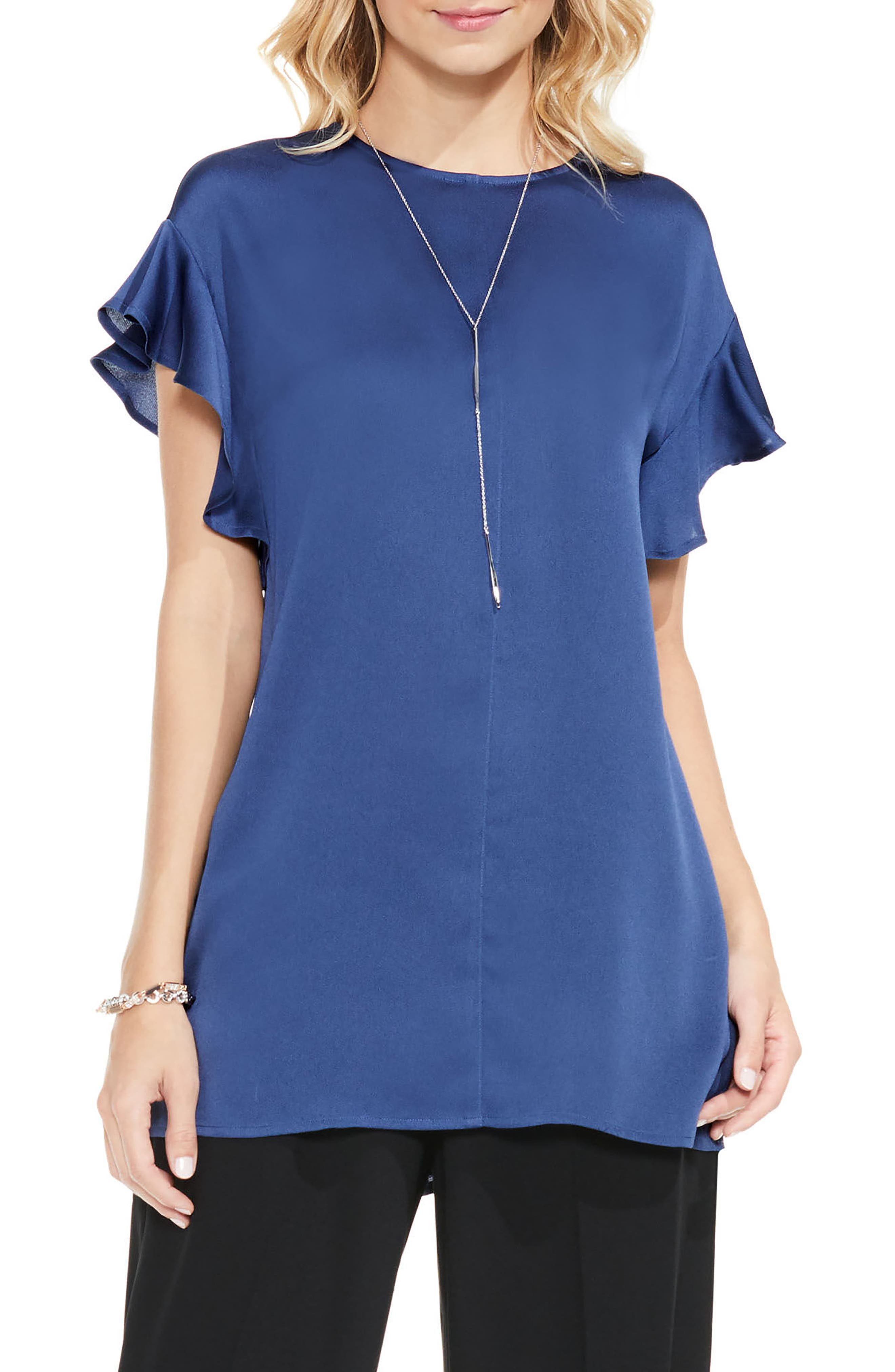 Alternate Image 1 Selected - Vince Camuto Ruffle Sleeve Blouse