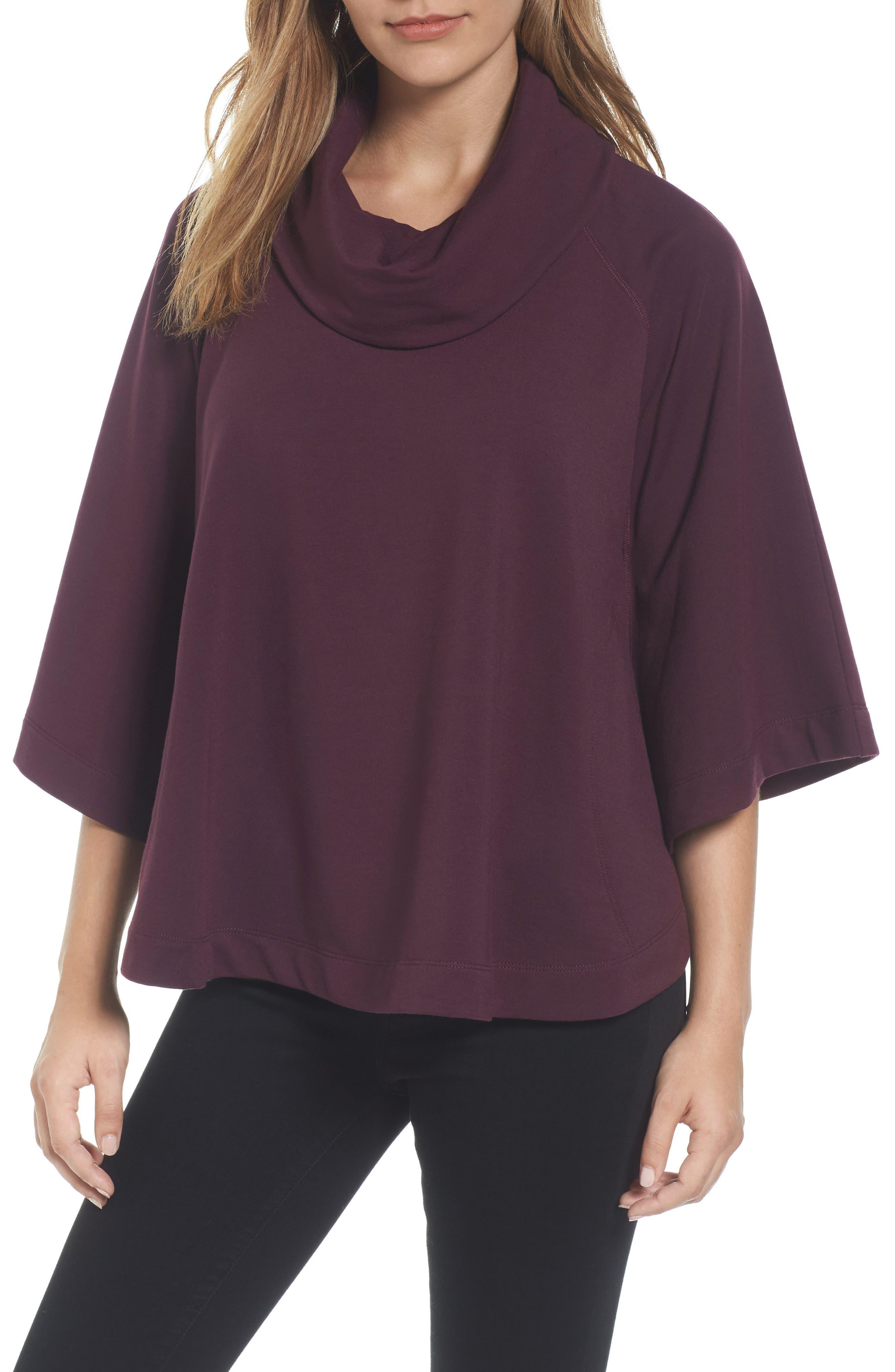 Caslon® Cowl Neck Sweatshirt (Regular & Petite)