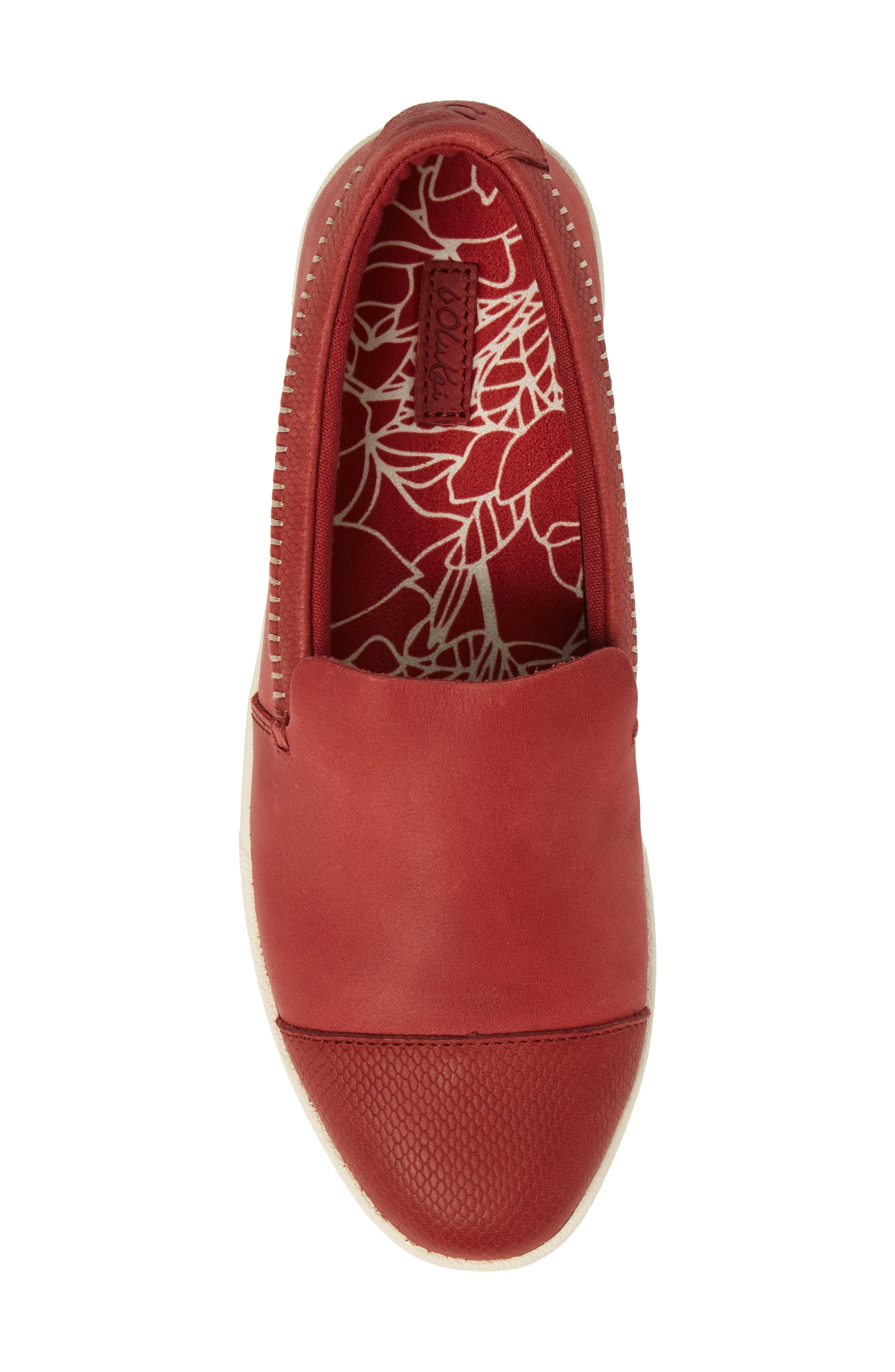 Alohi Embossed Cap Toe Slip-On,                             Alternate thumbnail 5, color,                             Red Mud/ Red Mud Leather