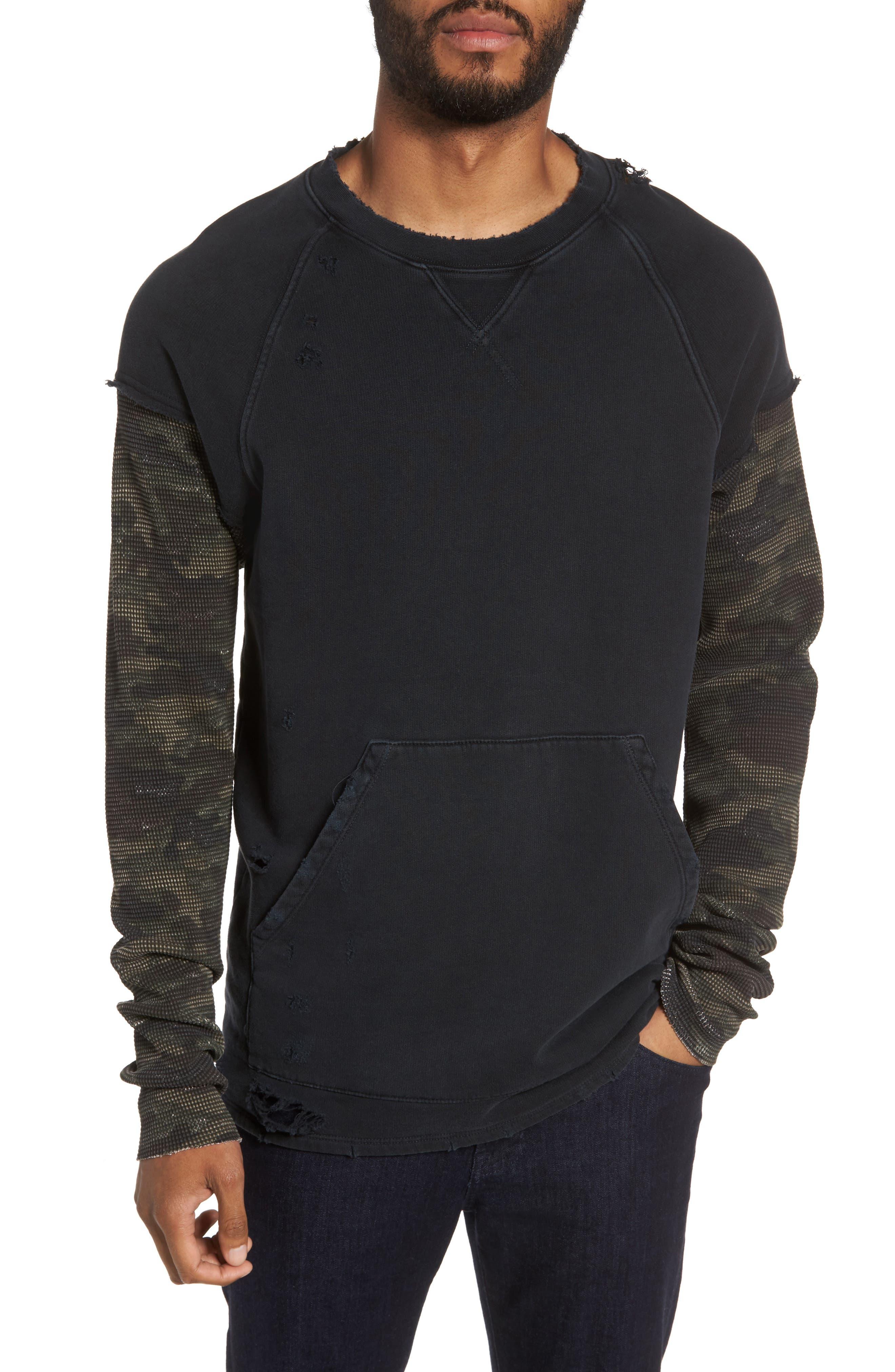 Alternate Image 1 Selected - Hudson Jeans Striker Slim Fit Crewneck Sweatshirt