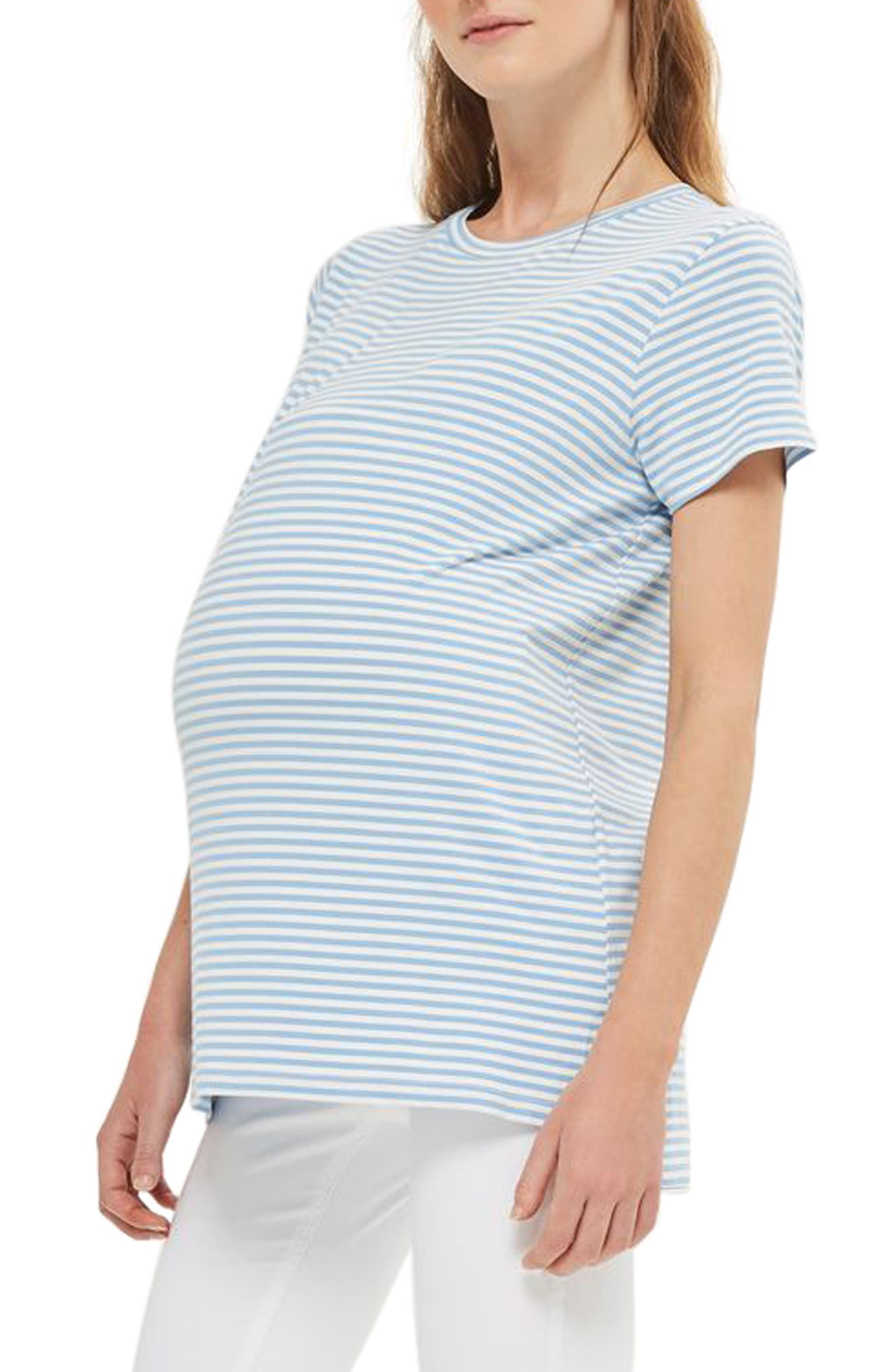 Topshop Stripe Maternity Tee
