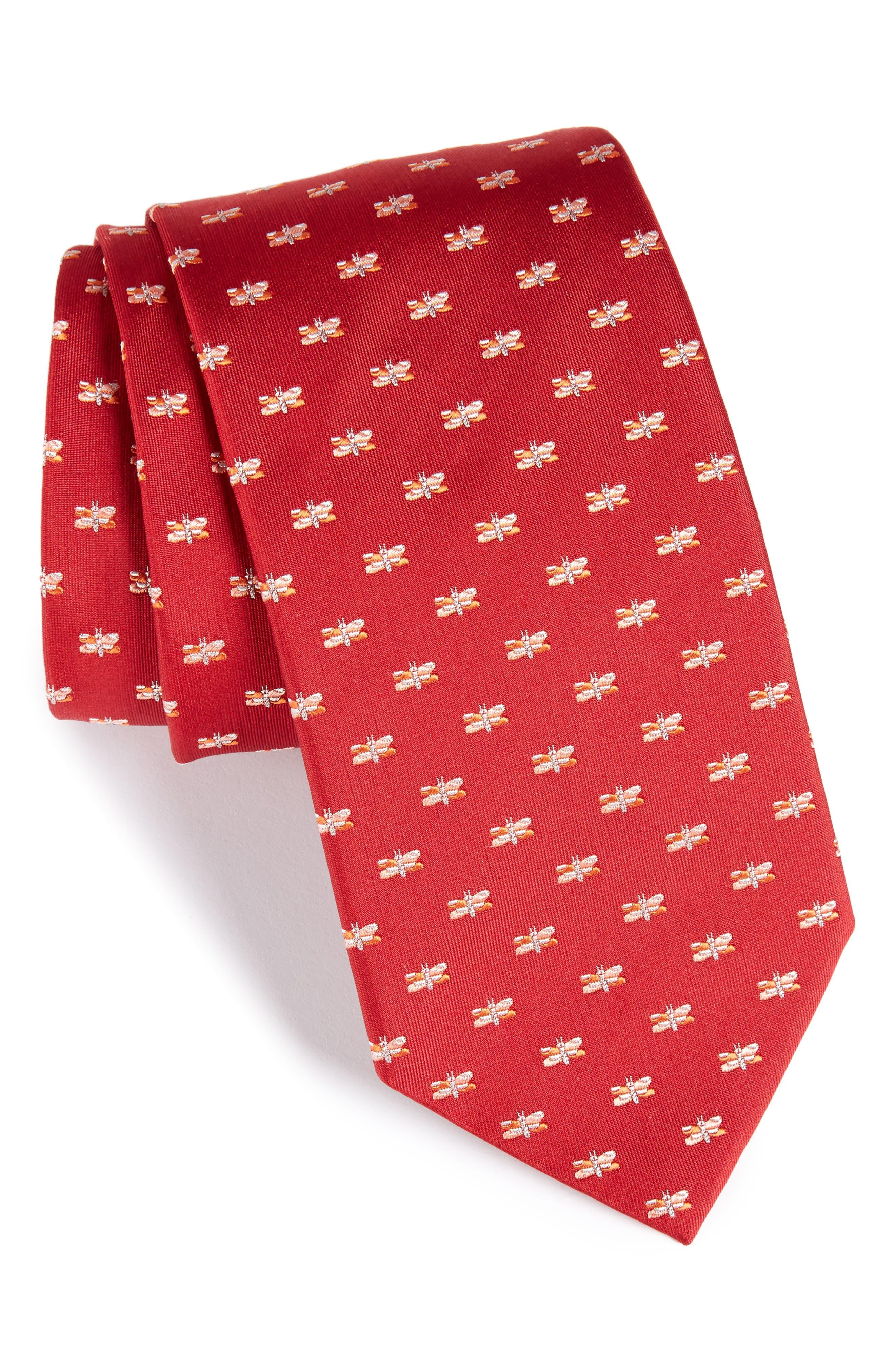 Salvatore Ferragamo Dragonfly Silk Tie