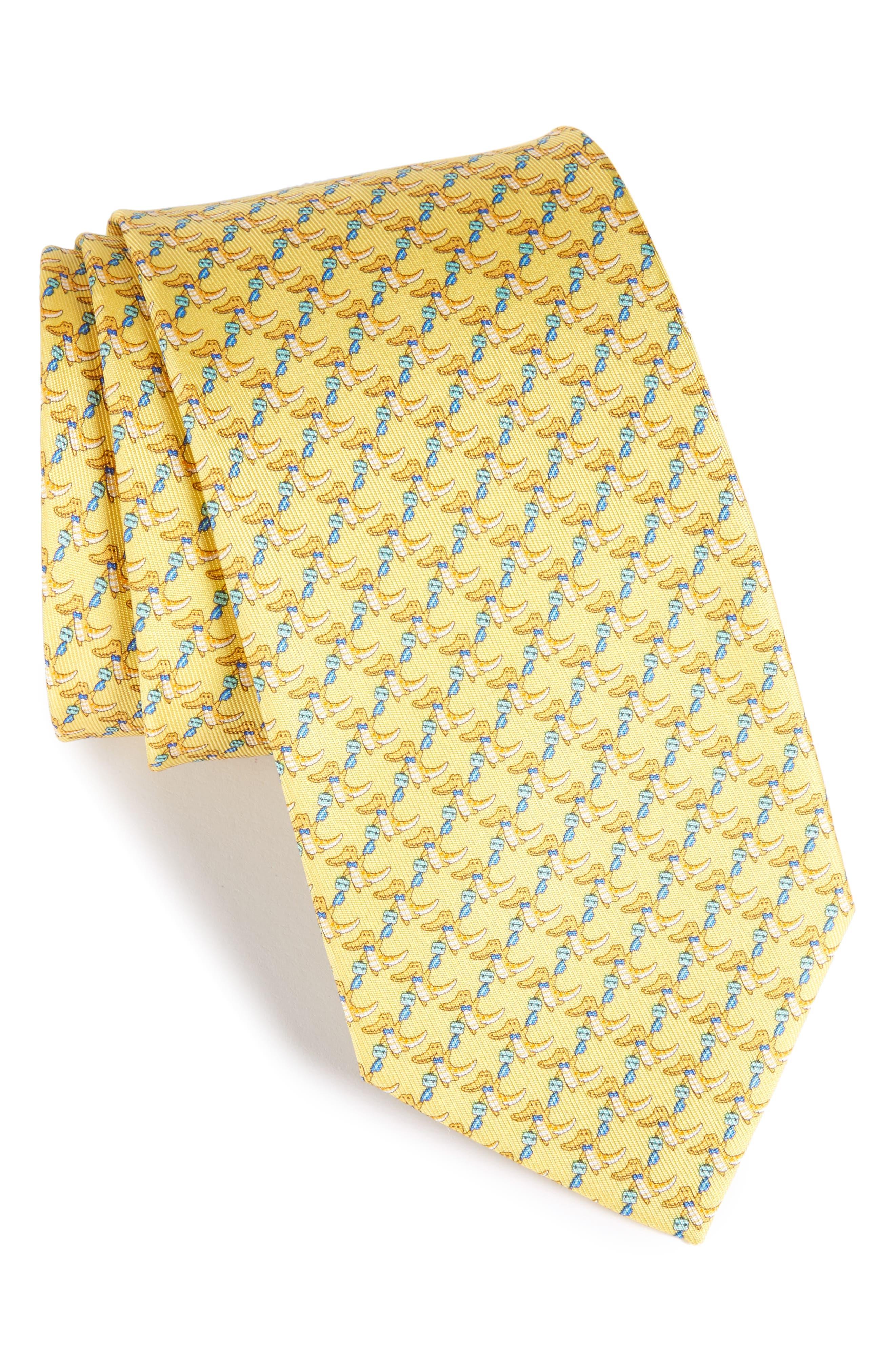 Salvatore Ferragamo Crocodile Silk Tie