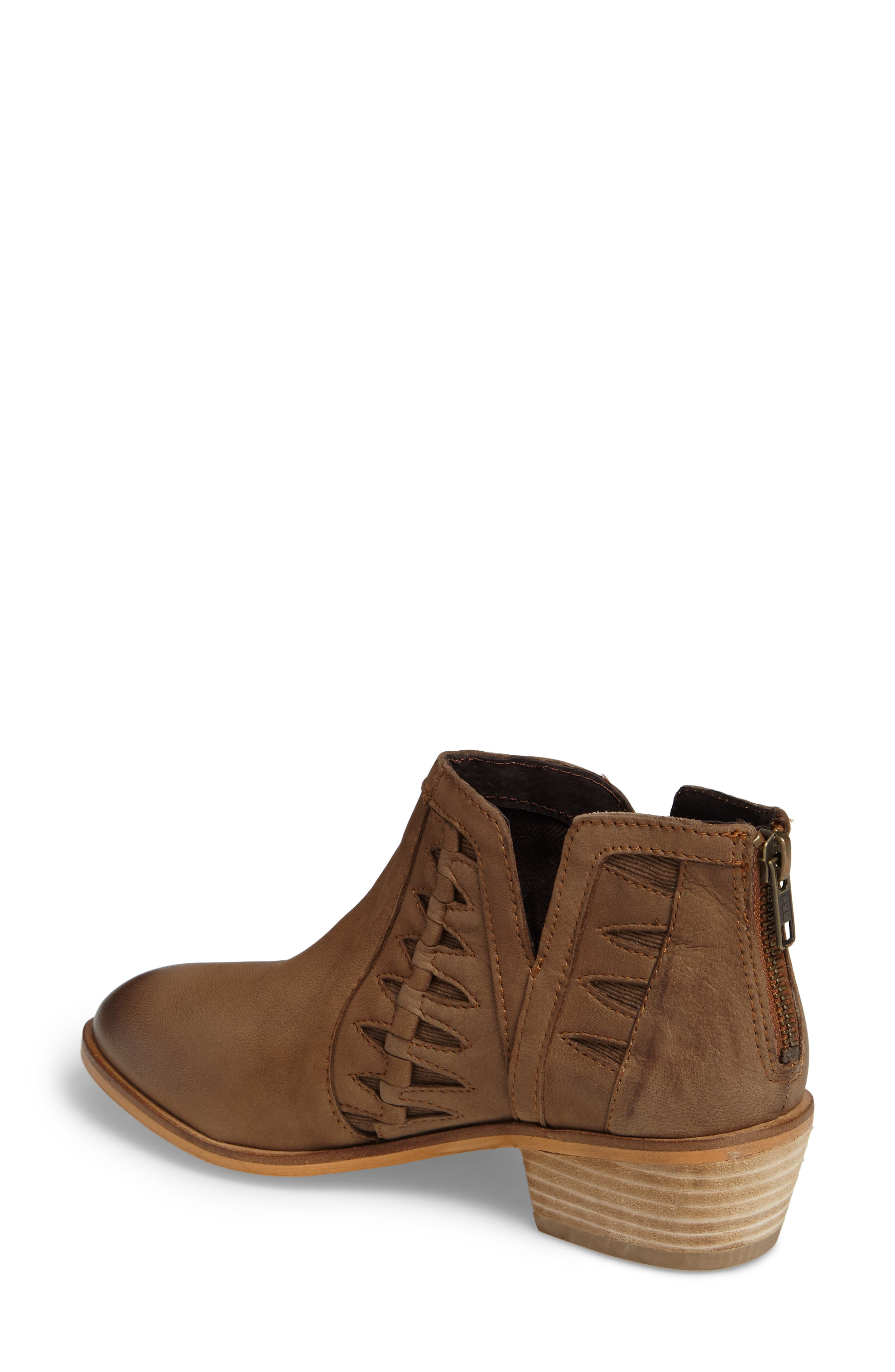 Yuma Bootie,                             Alternate thumbnail 2, color,                             Cognac Washed Nubuck Leather