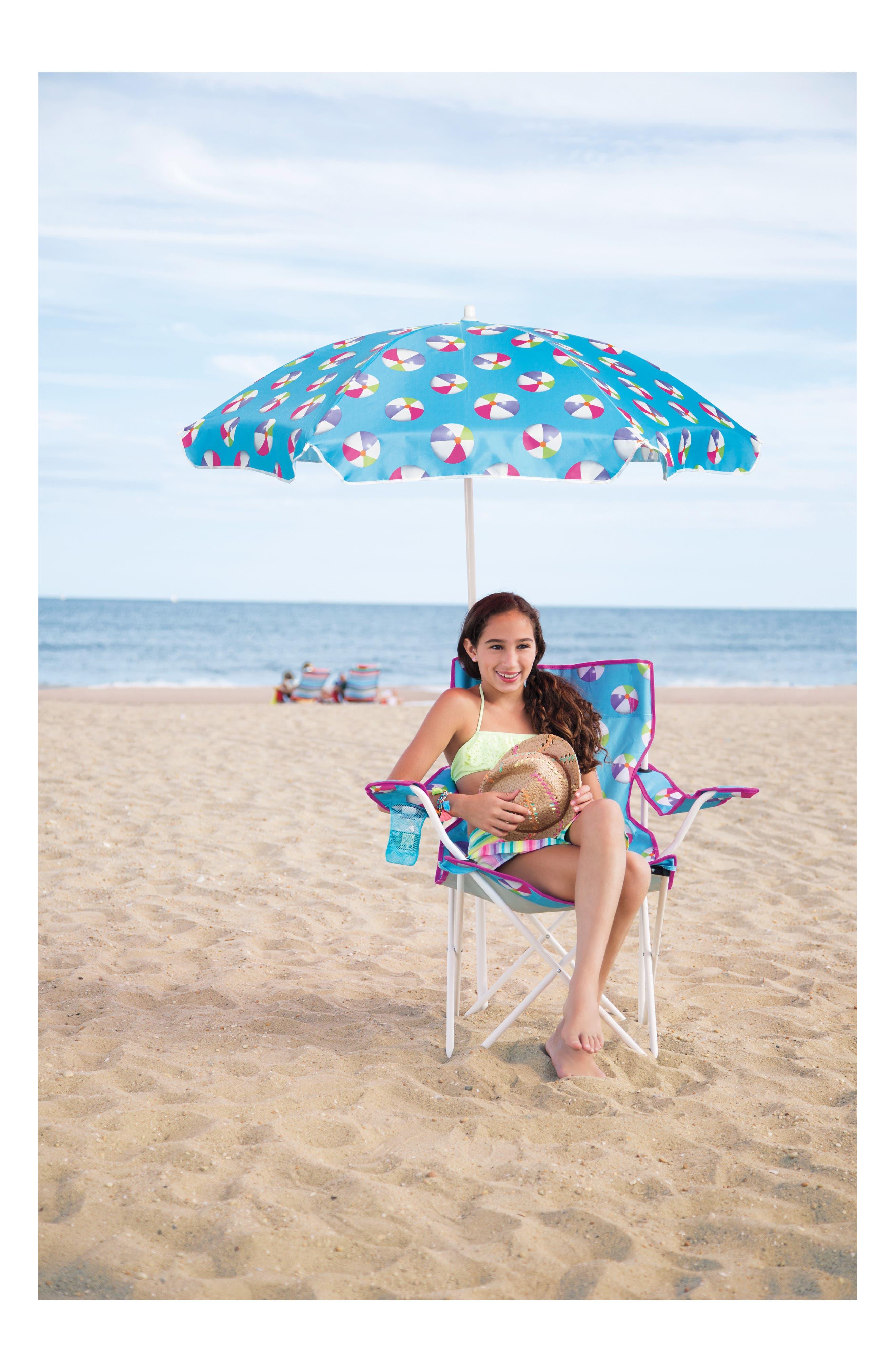 Umbrella Beach Chair,                             Alternate thumbnail 3, color,                             Teal
