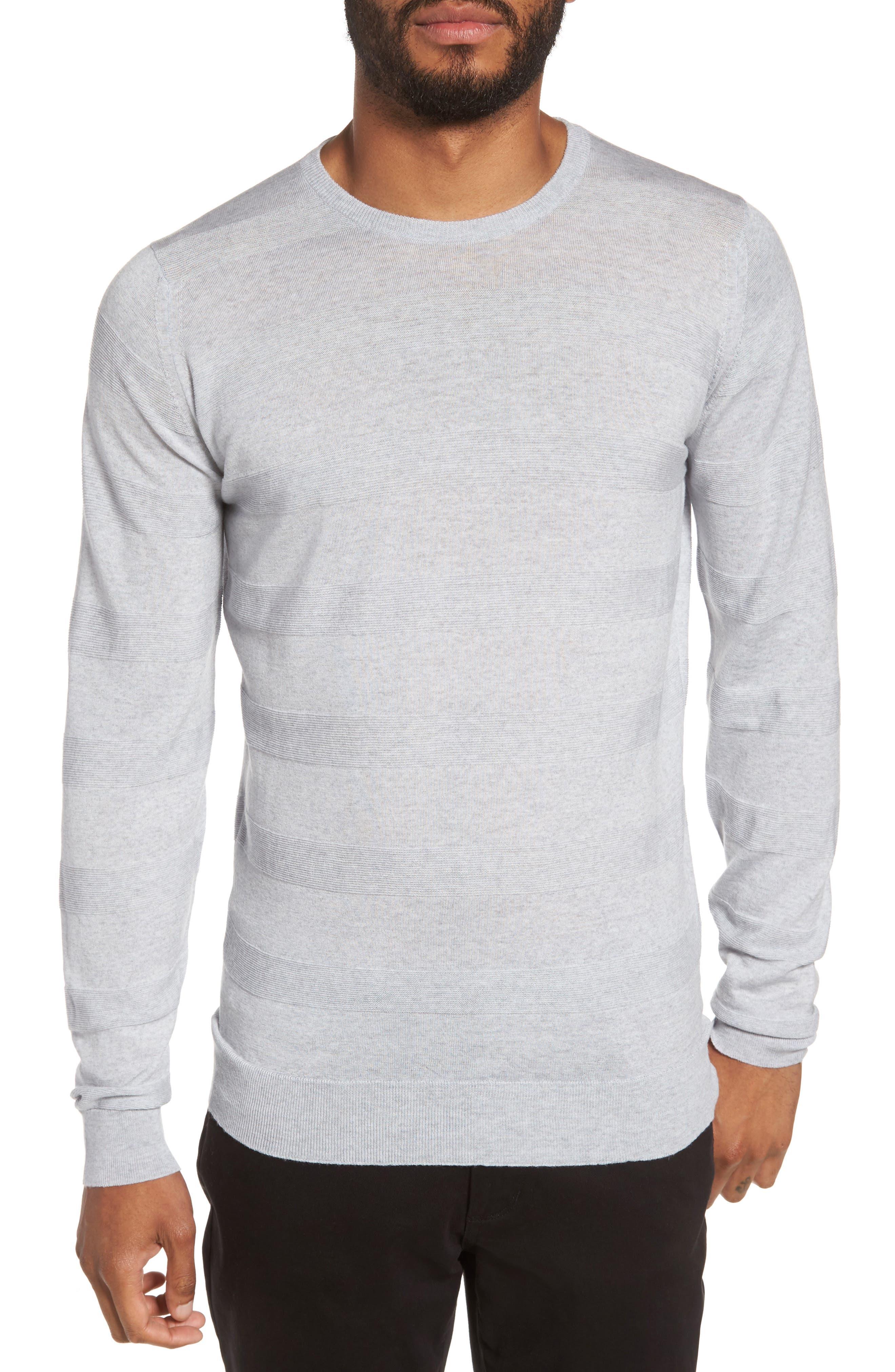 Standard Fit Merino Wool Sweater,                         Main,                         color, Bardot Grey