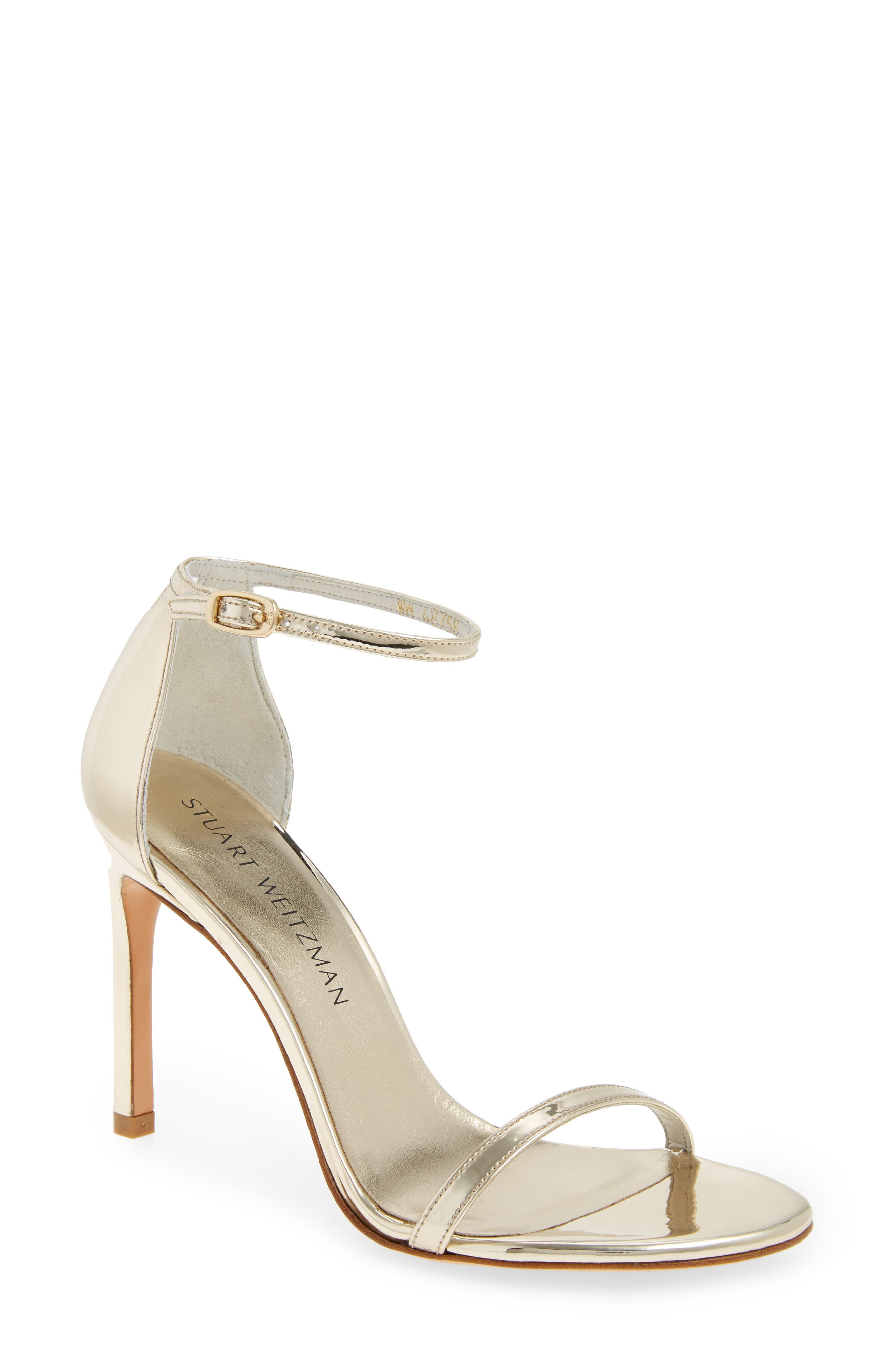 Main Image - Stuart Weitzman Nudistsong Ankle Strap Sandal (Women)