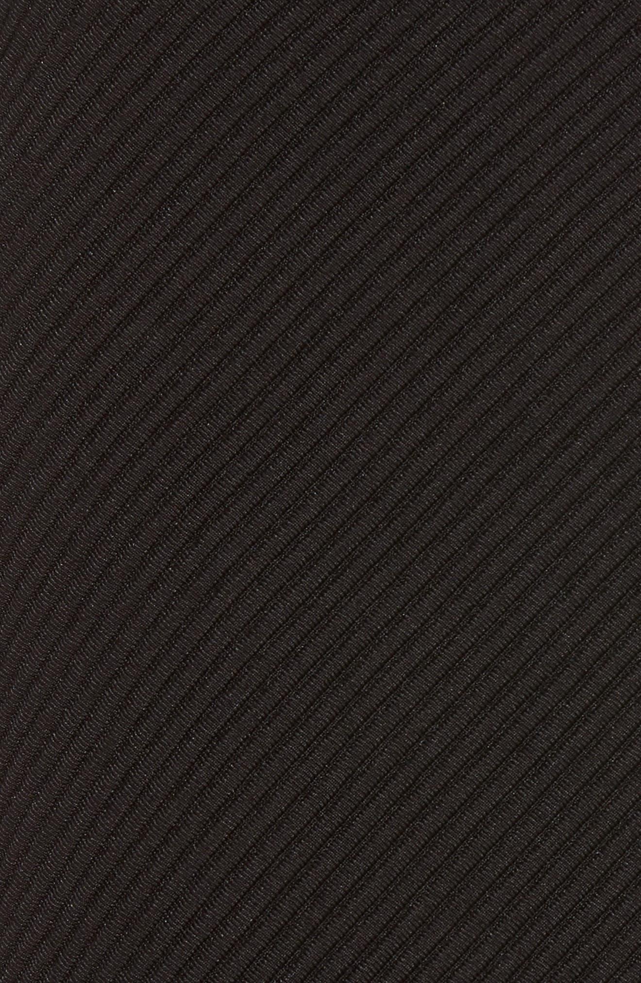 A-Line Knit Miniskirt,                             Alternate thumbnail 5, color,                             Black