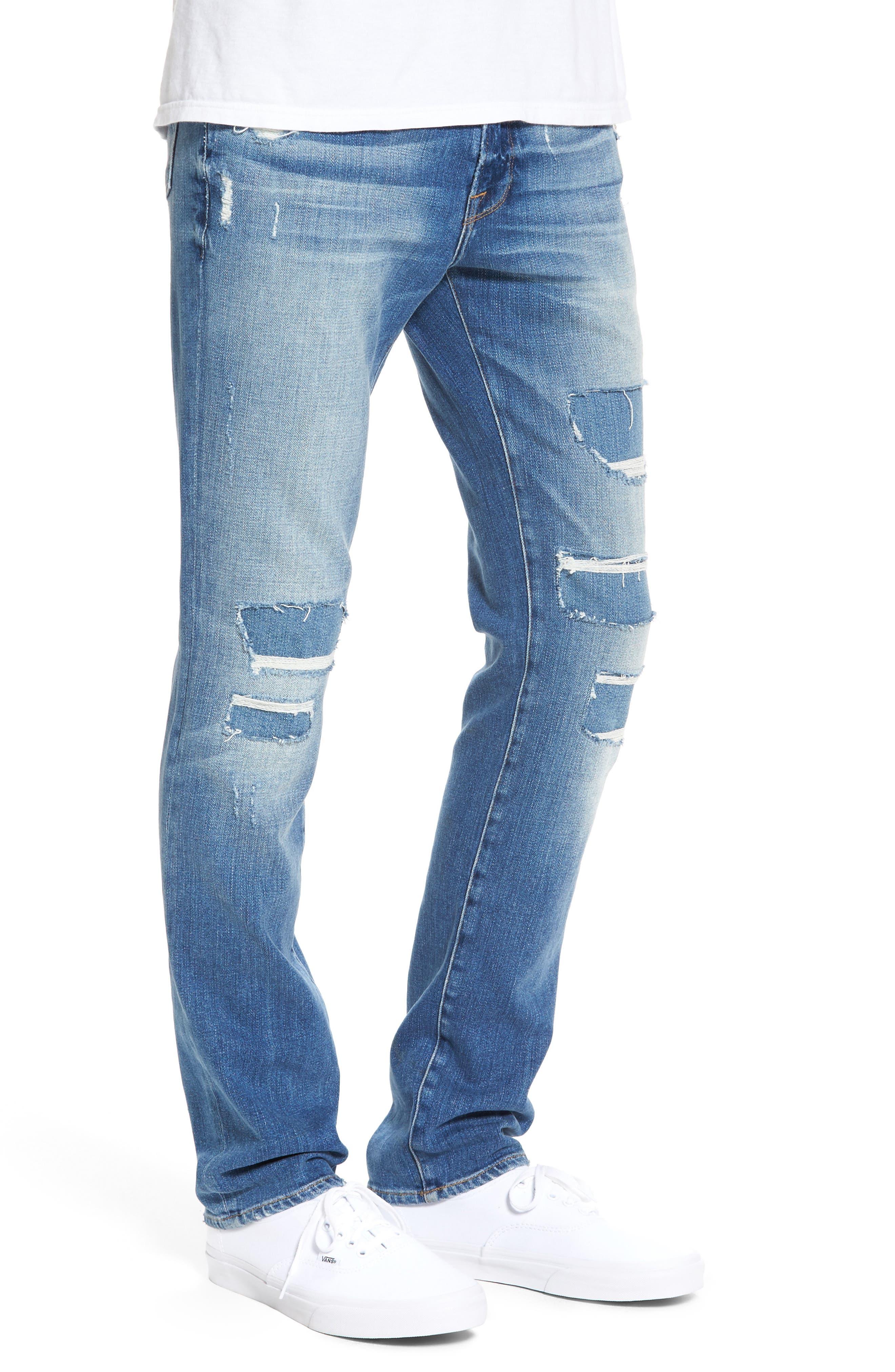 Alternate Image 3  - FRAME L'Homme Skinny Jeans (Frazier)