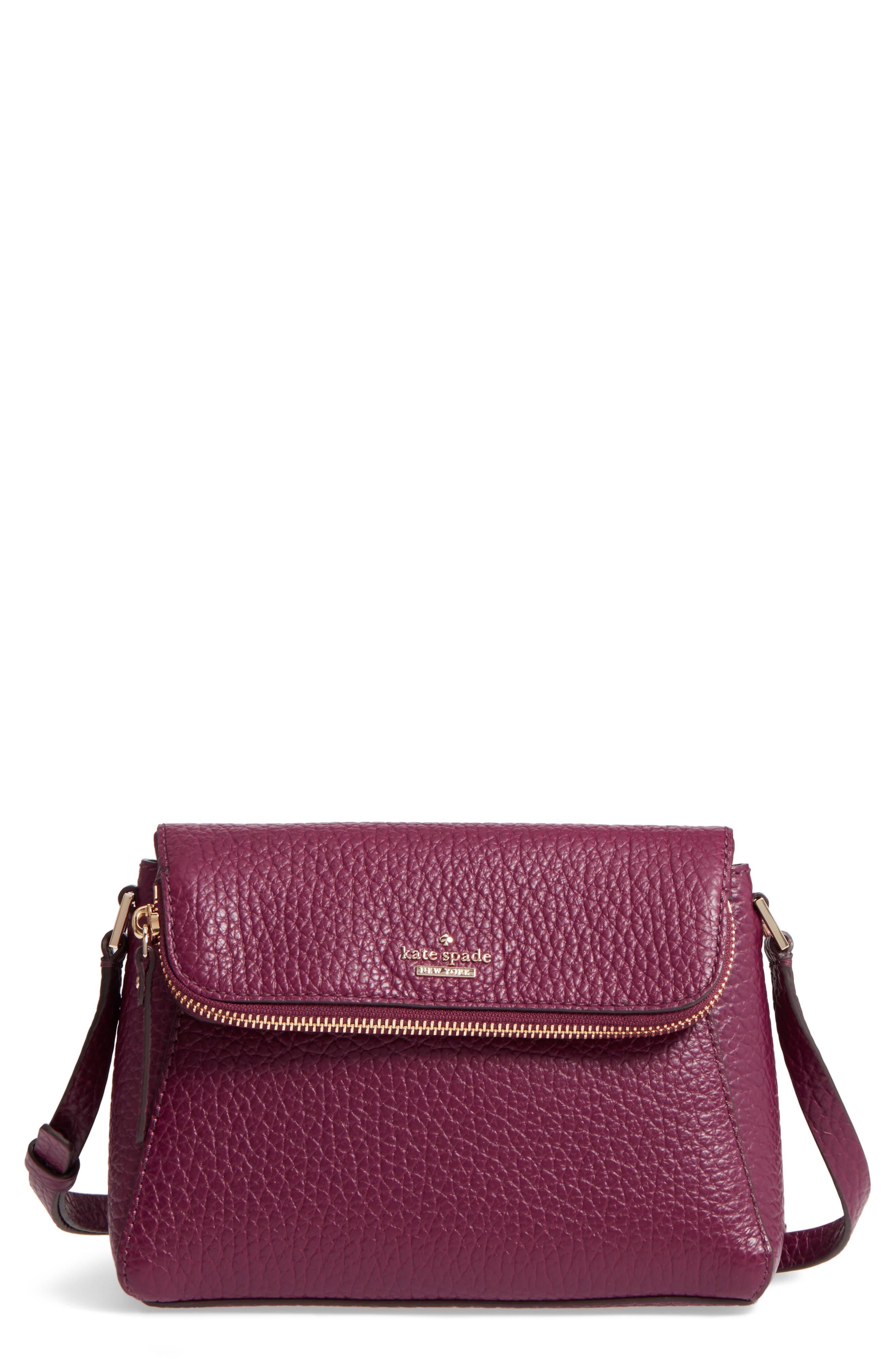 carter street - berrin leather crossbody bag,                             Main thumbnail 1, color,                             Plum