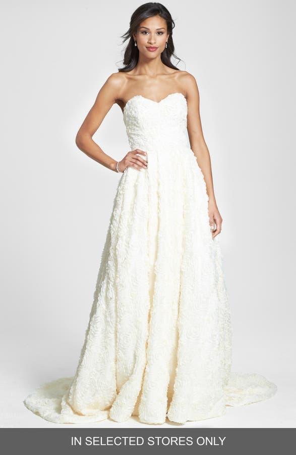 Olia Zavozina Delia Rosette Silk Blend Lace Chiffon Dress Nordstrom - Rosette Wedding Dress