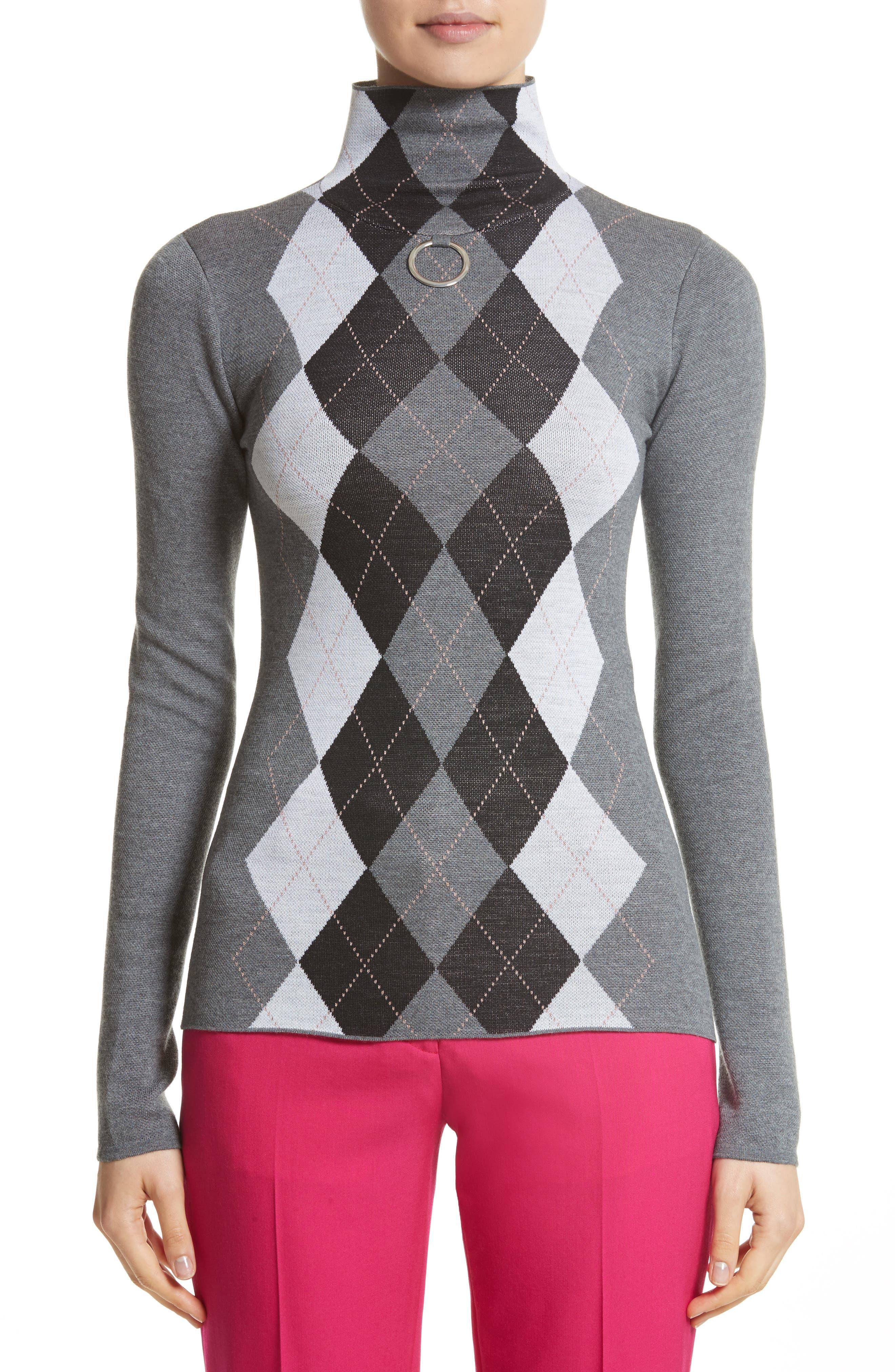 Stella McCartney Ring Detail Arygle Sweater