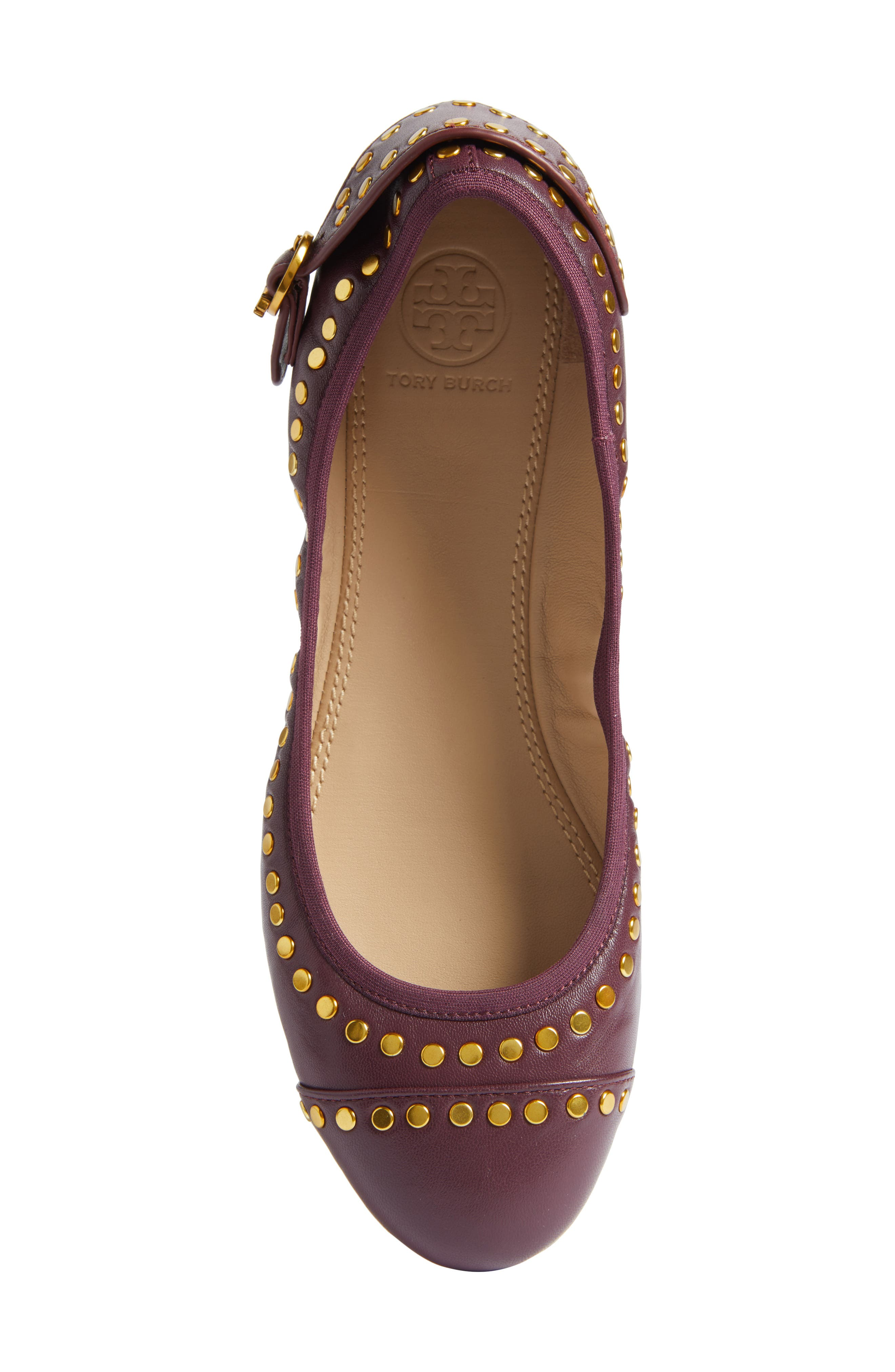 Alternate Image 5  - Tory Burch Holden Studded Cap Toe Flat (Women)