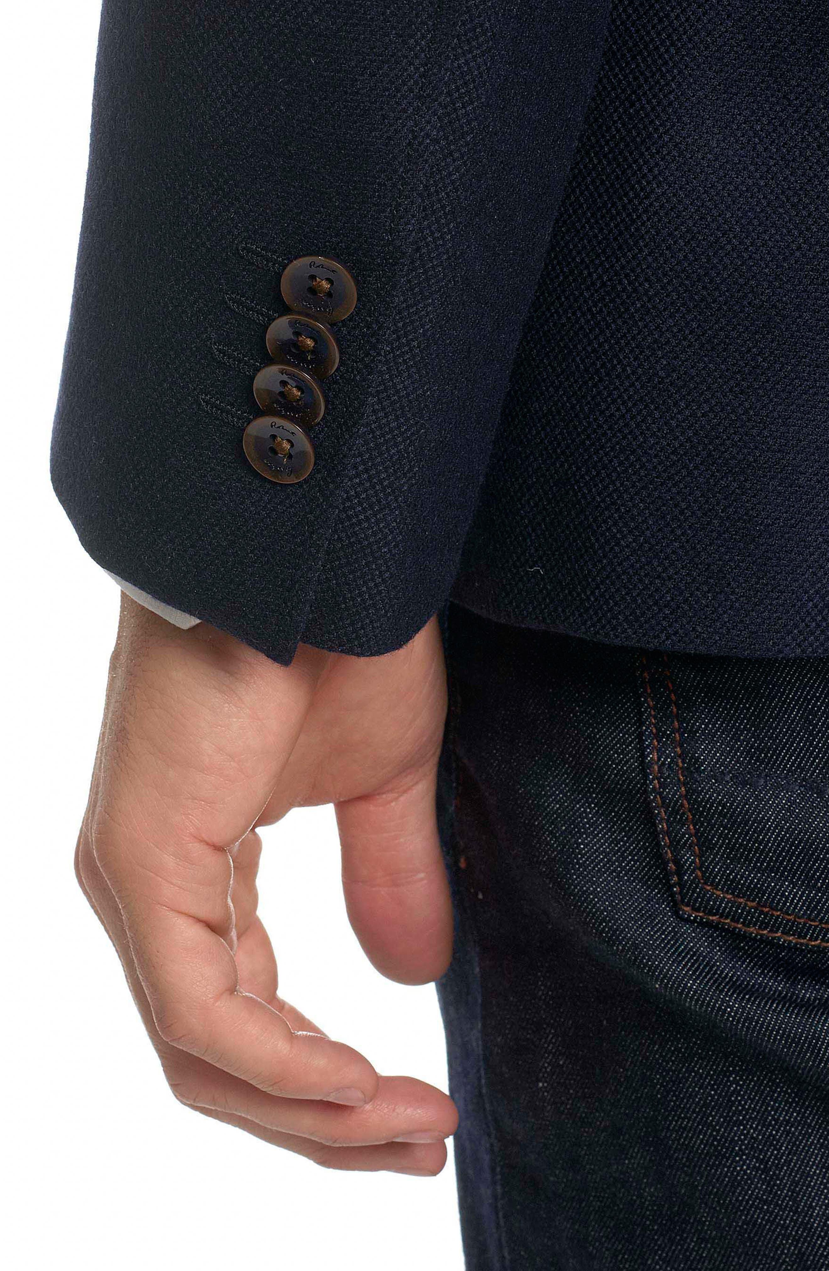 Newburgh Classic Fit Cashmere Sport Coat,                             Alternate thumbnail 4, color,                             Navy
