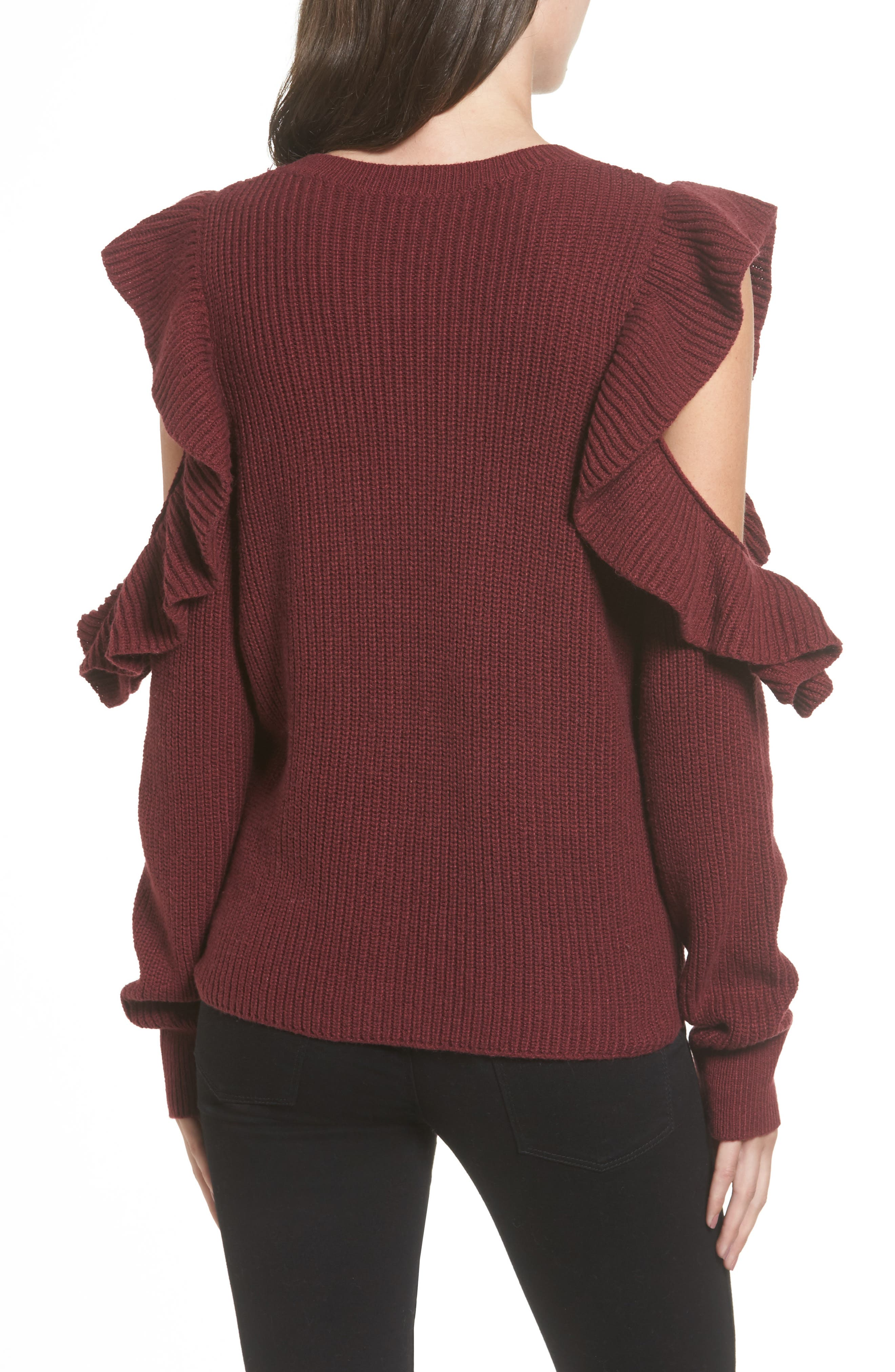 Alternate Image 2  - BP. Ruffle Cold Shoulder Sweater