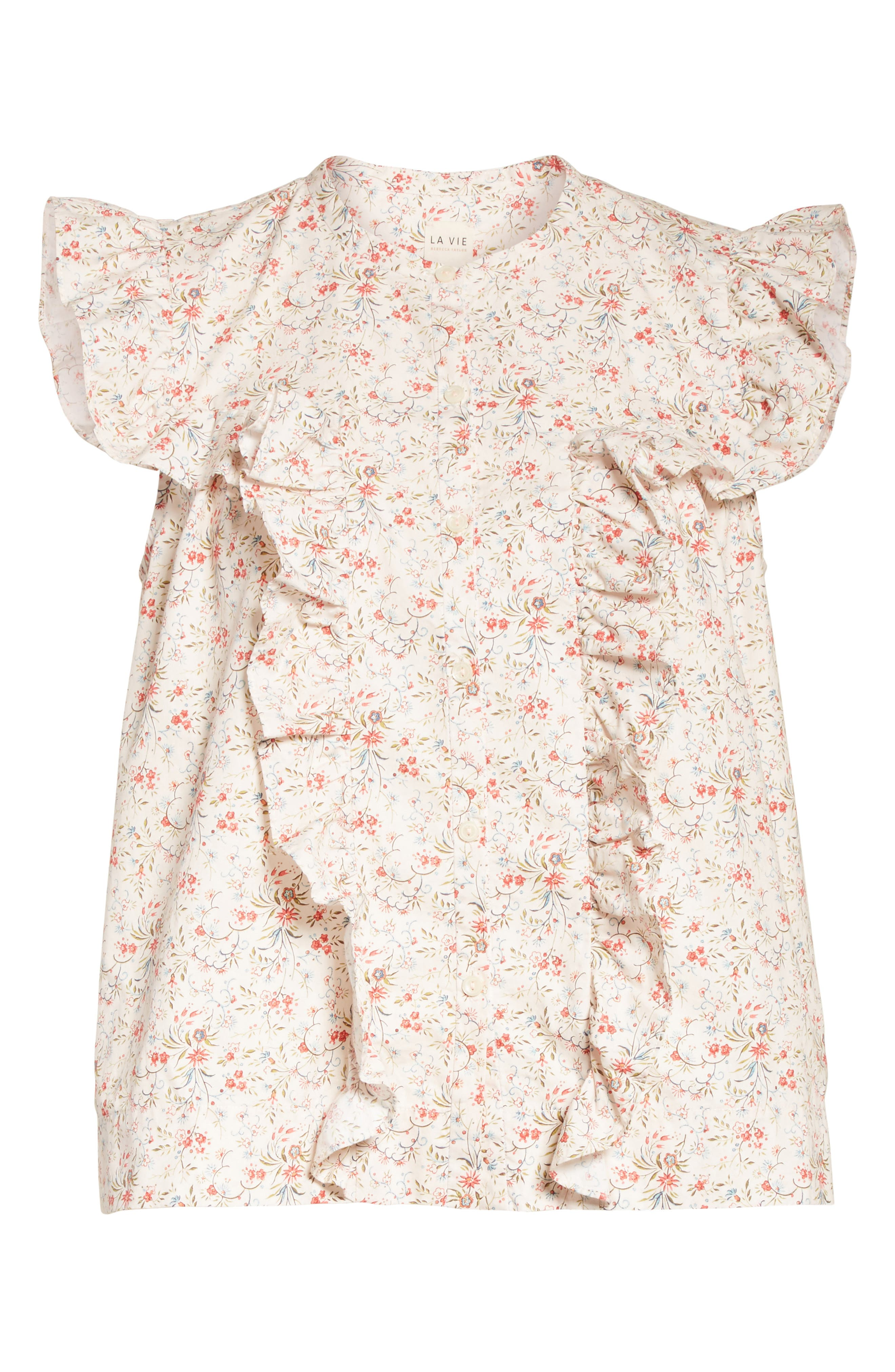 Alternate Image 6  - La Vie Rebecca Taylor Brittany Sleeveless Floral Blouse