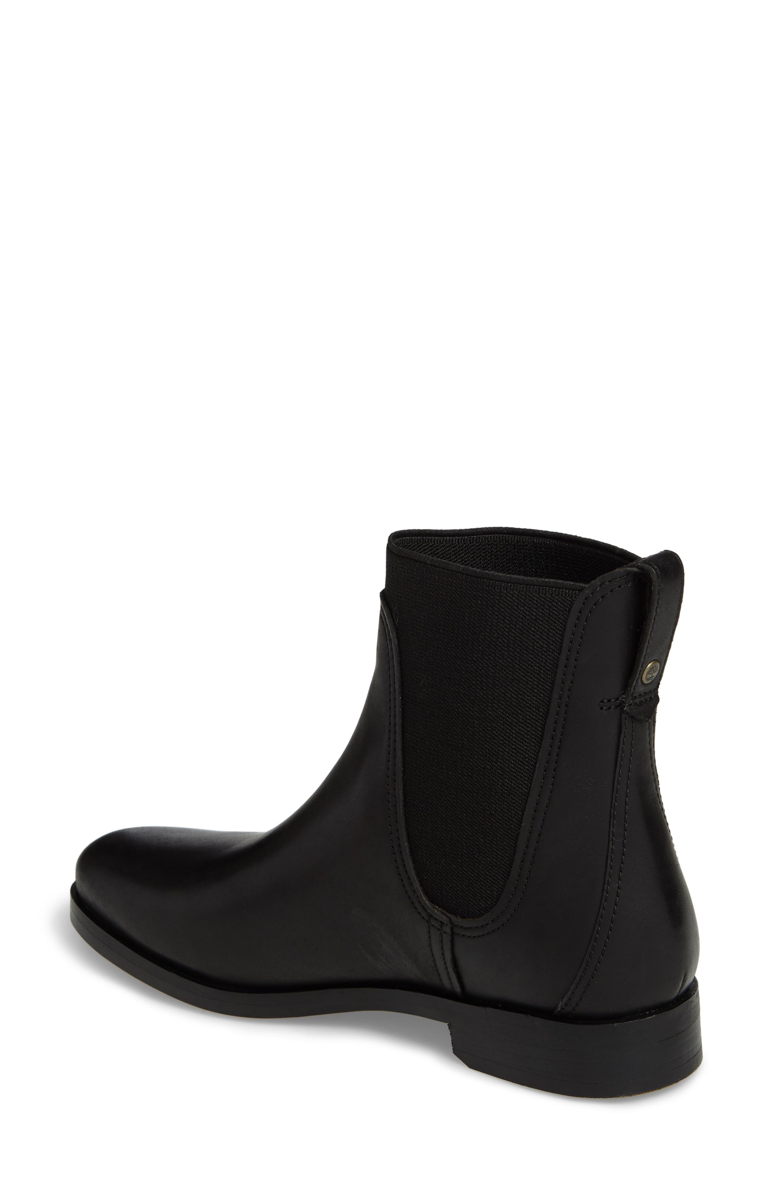 Somers Falls Water Resistant Chelsea Boot,                             Alternate thumbnail 2, color,                             Jet Black Swank Leather