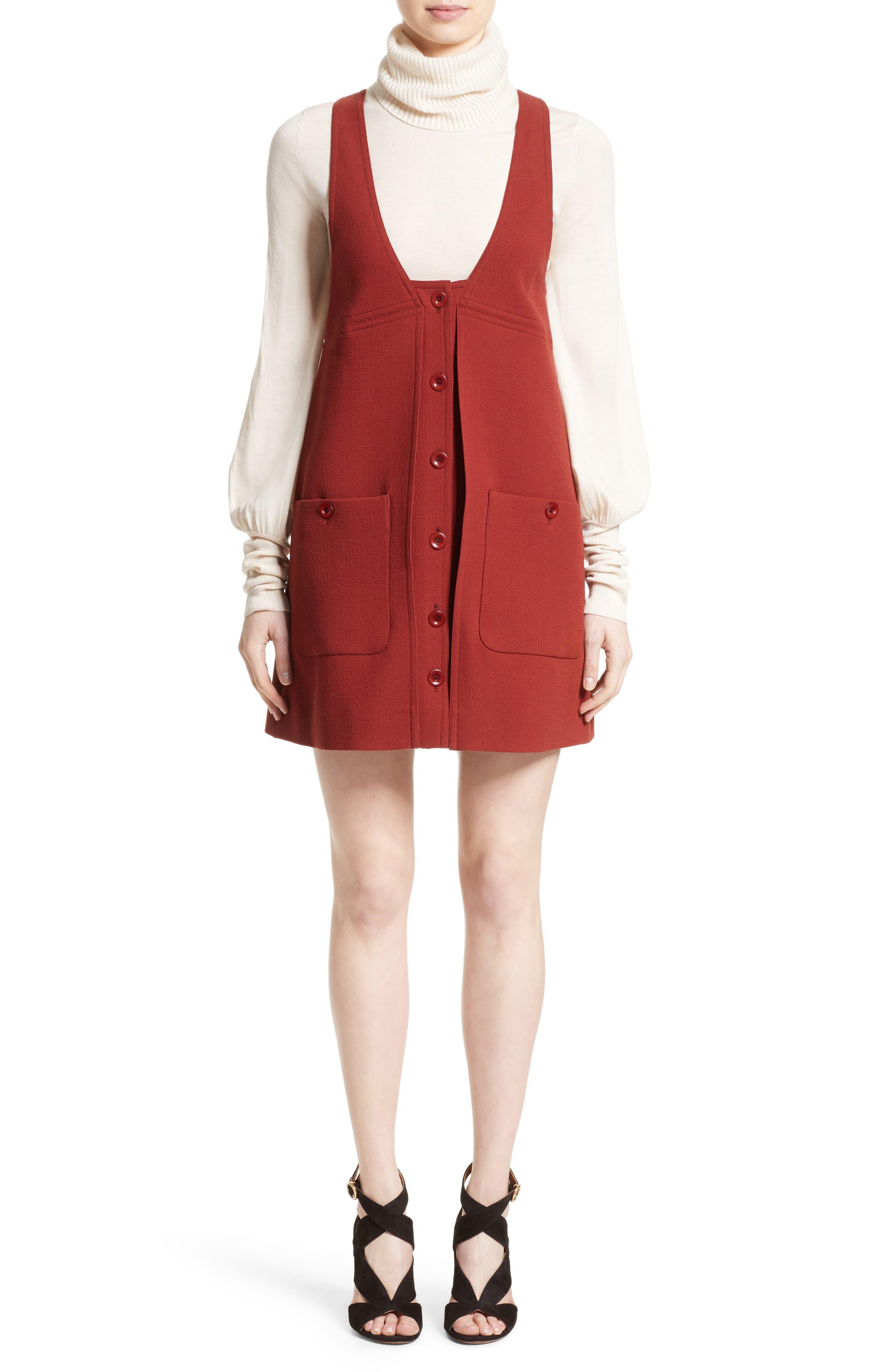 Alternate Image 6  - Chloé Wool Crepe Jumper Dress
