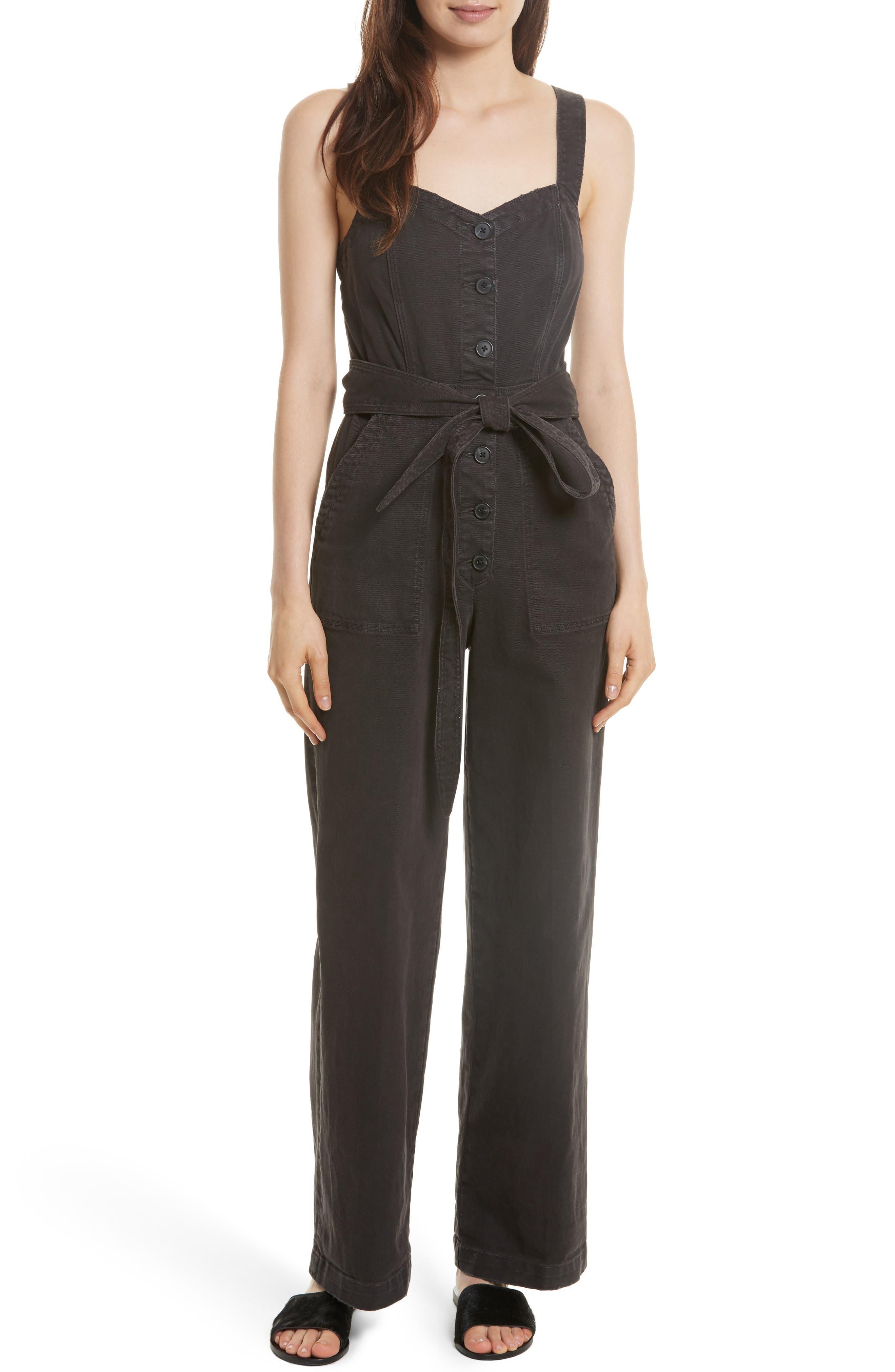 LA VIE REBECCA TAYLOR Garment Dyed Twill Jumpsuit