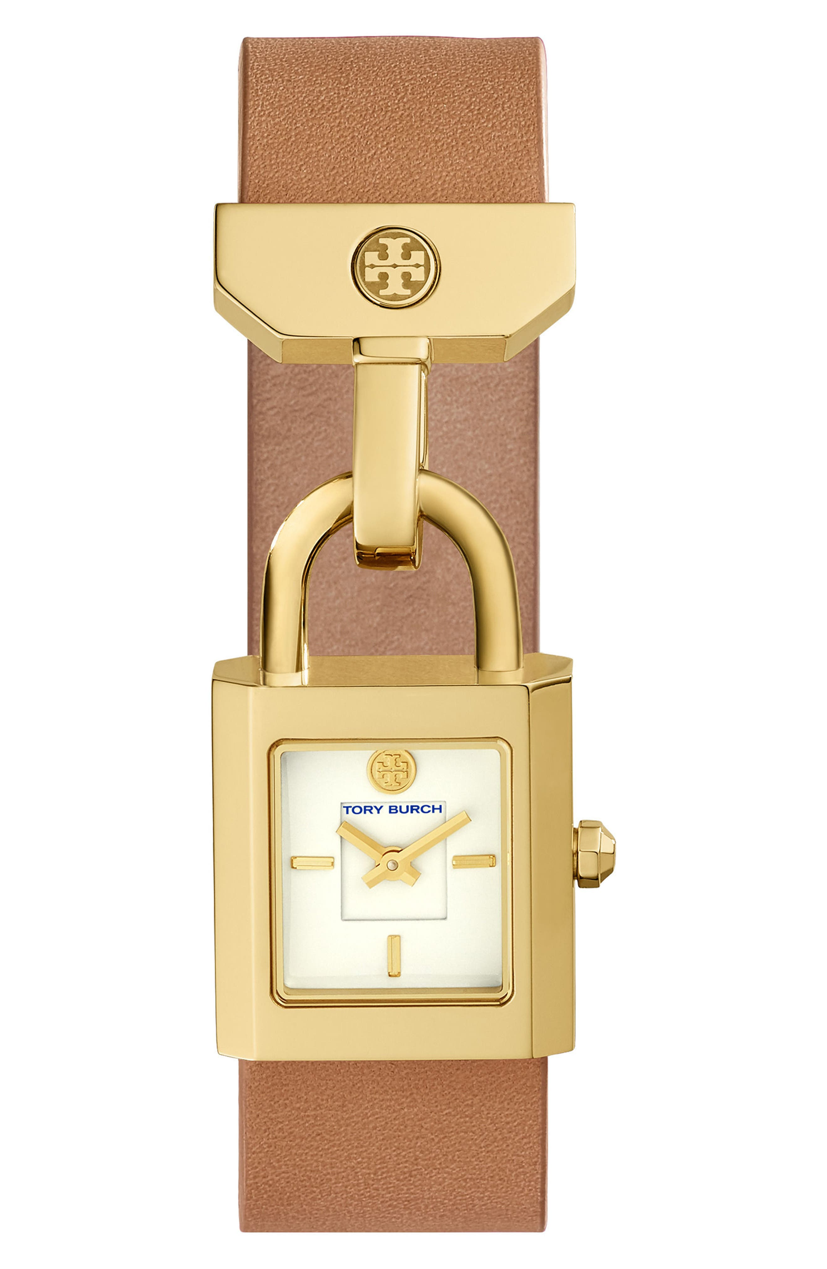 Main Image - Tory Burch Surrey Leather Strap Watch, 22mm x 23.5mm