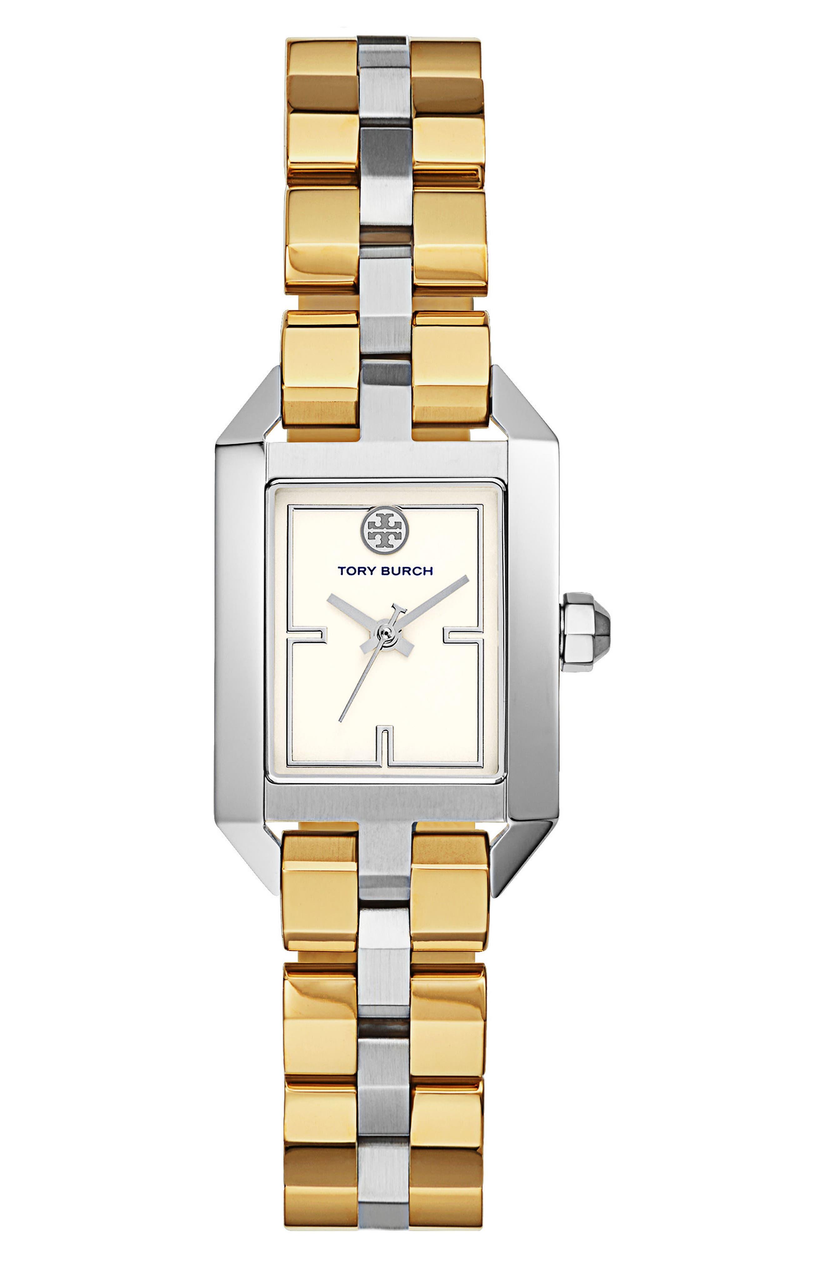 Main Image - Tory Burch Dalloway Bracelet Watch, 23mm x 36.5mm