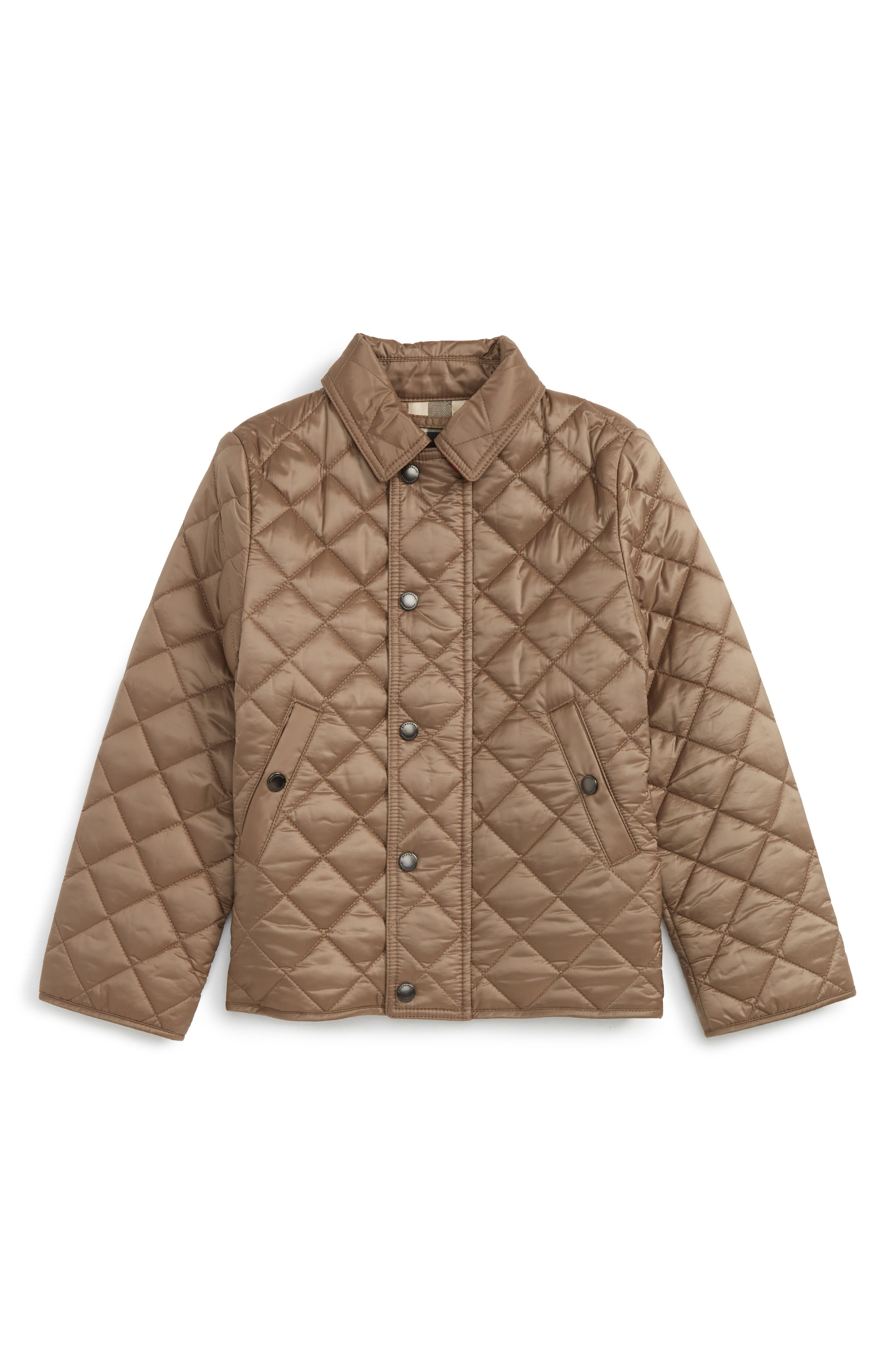 Main Image - Burberry Mini Luke Quilted Jacket (Toddler Boys)