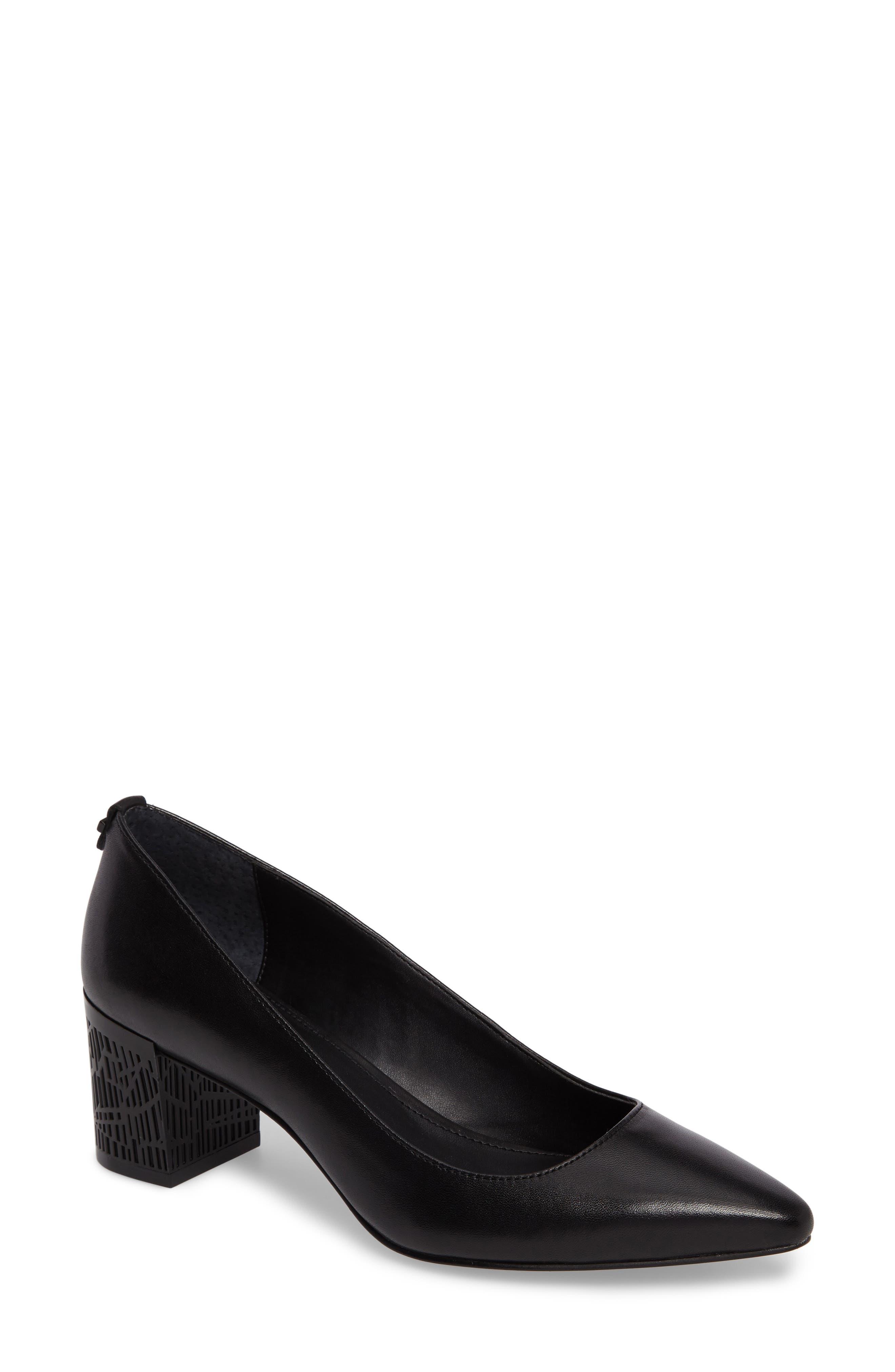 Natalynn 2 Texture Heel Pump,                         Main,                         color, Black