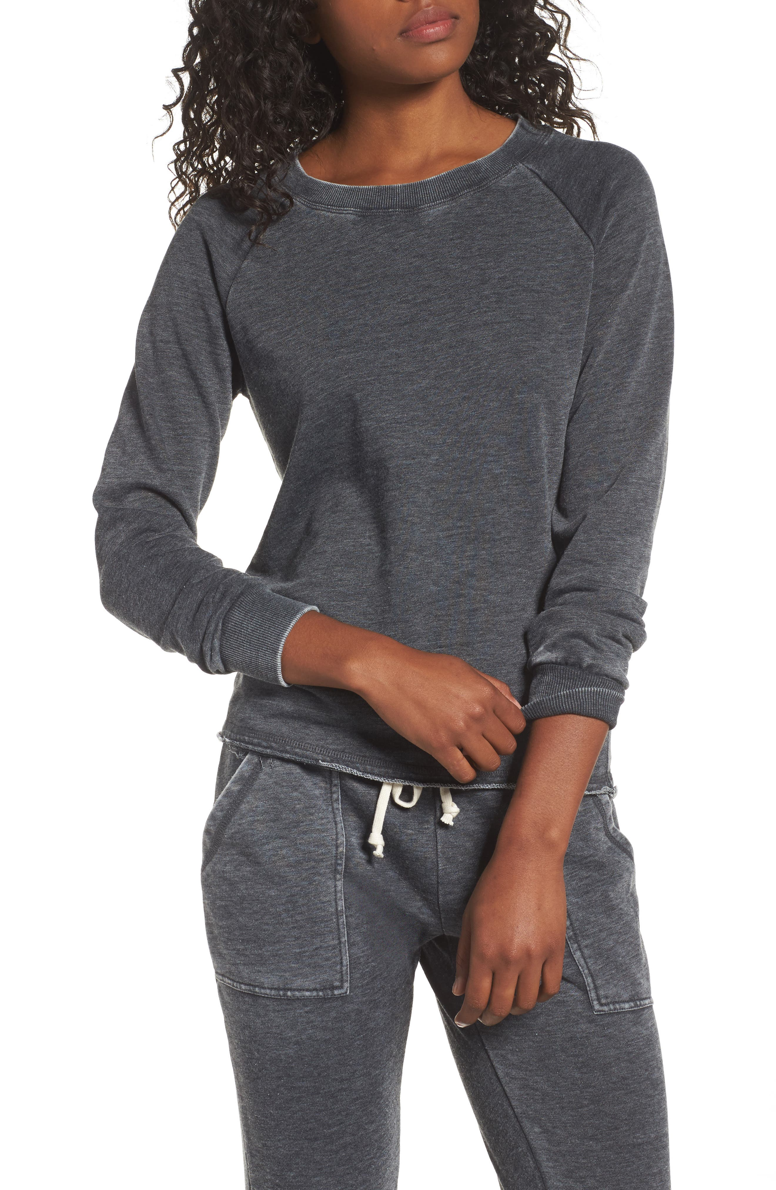 Lazy Day Pullover,                         Main,                         color, Washed Black