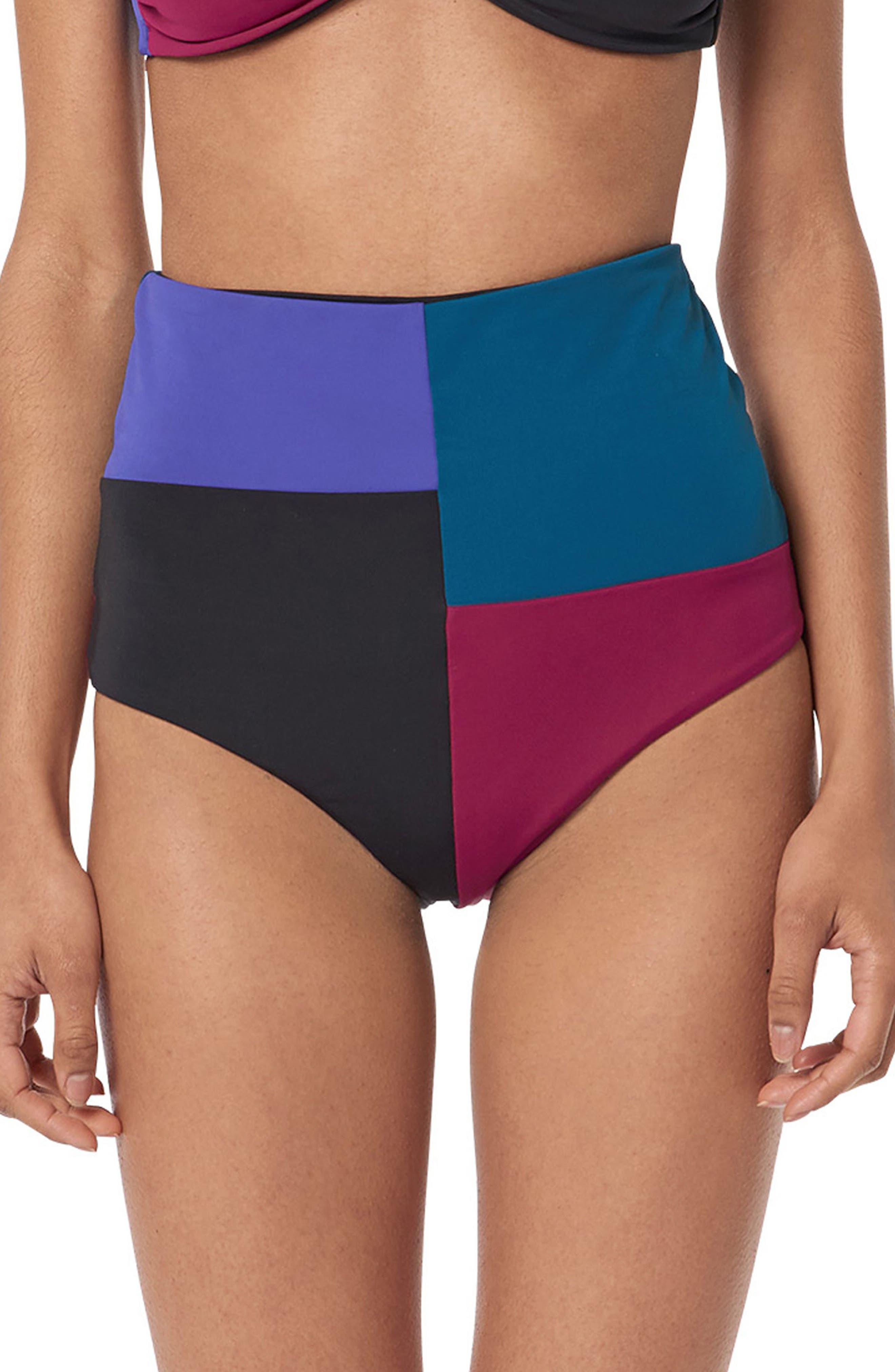 Lydia Swim Briefs,                         Main,                         color, Black Multi
