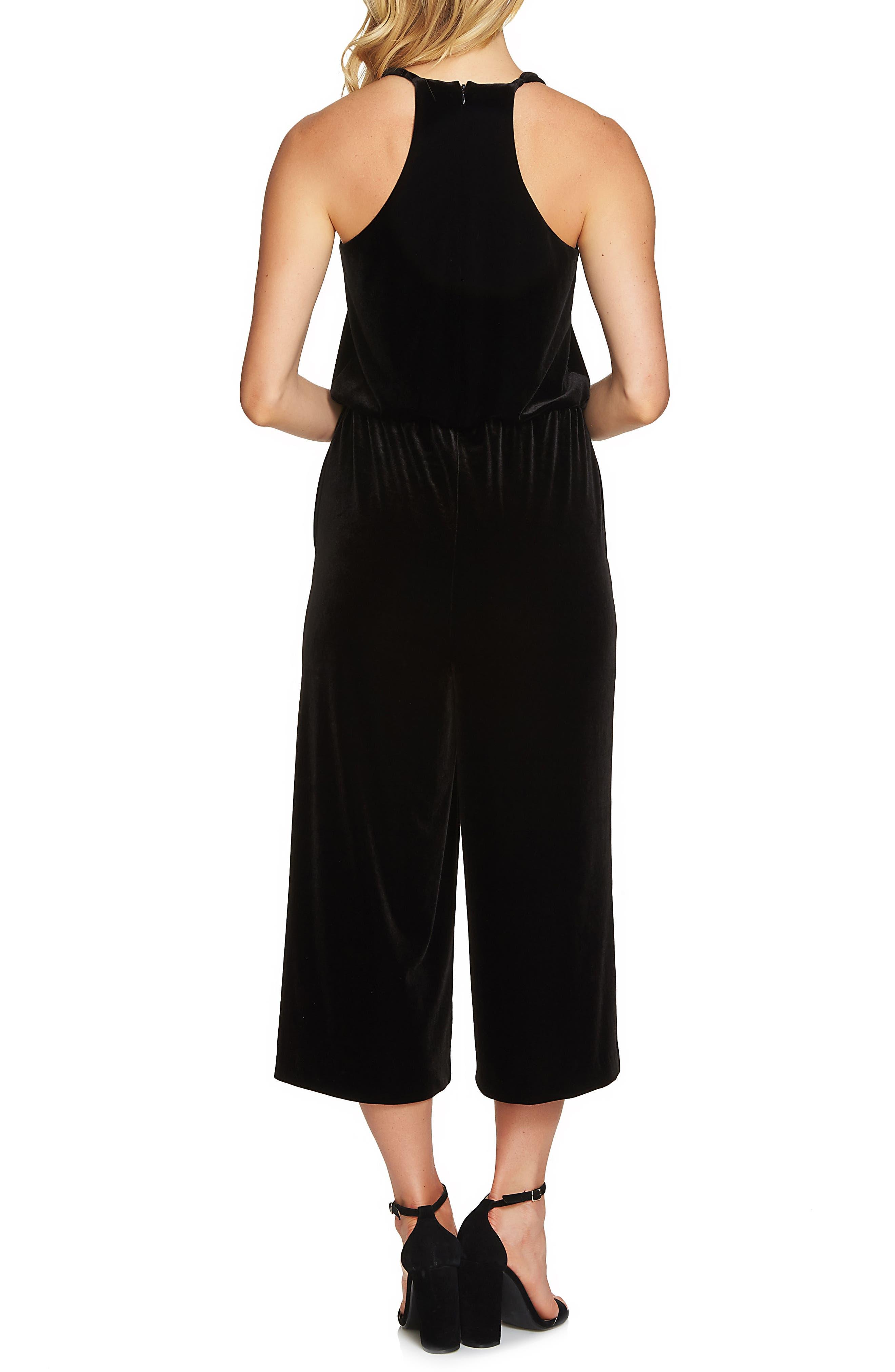 Alternate Image 2  - 1.STATE Velvet Culotte Jumpsuit