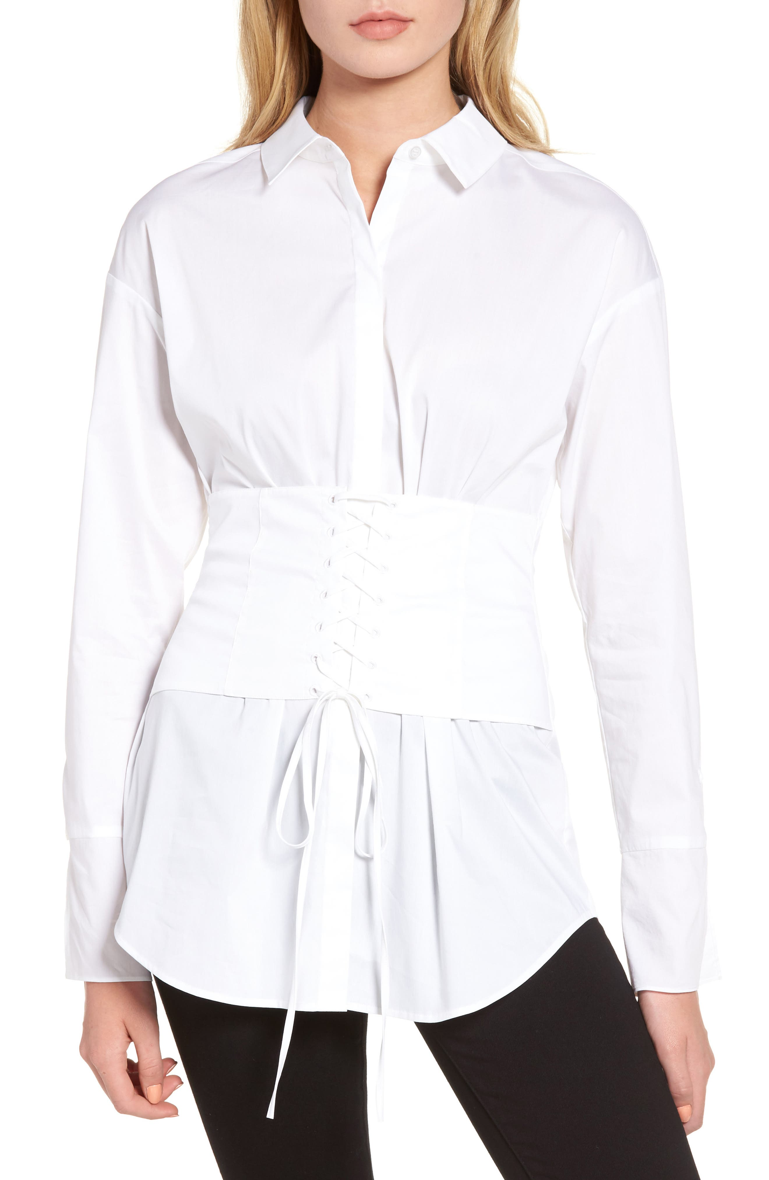 Trouvé Corset Stretch Poplin Shirt