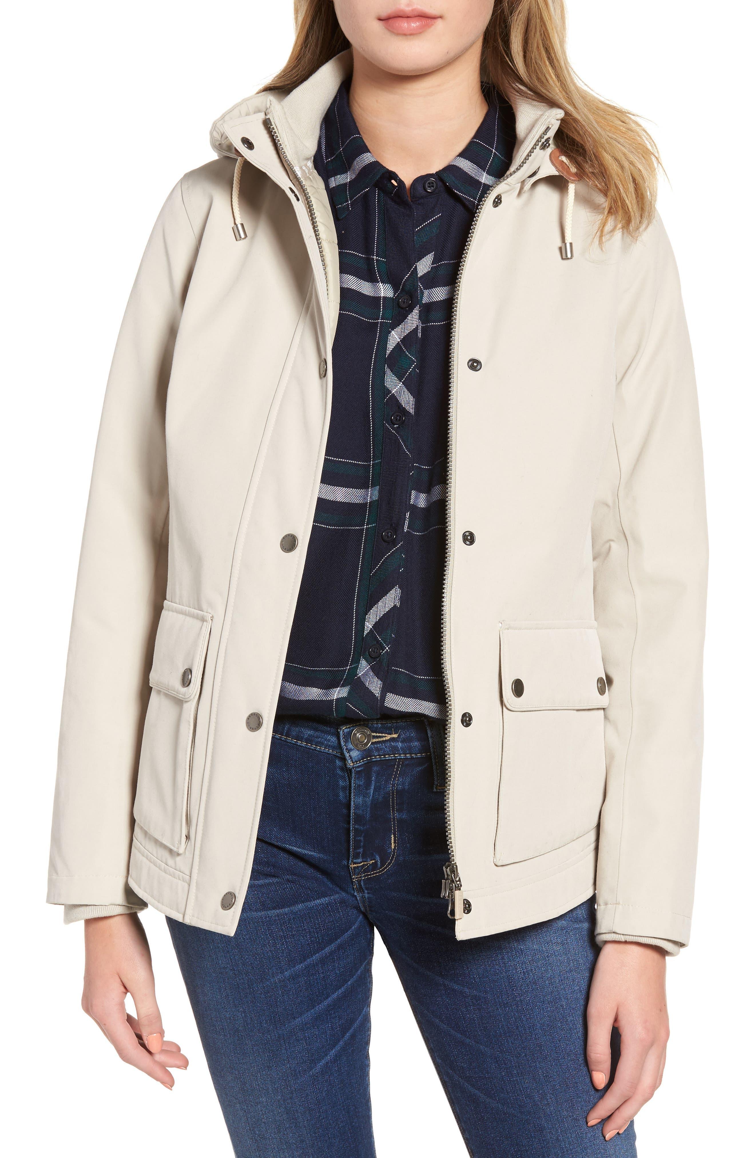 Seaton Hooded Waterproof Jacket,                         Main,                         color, Mist
