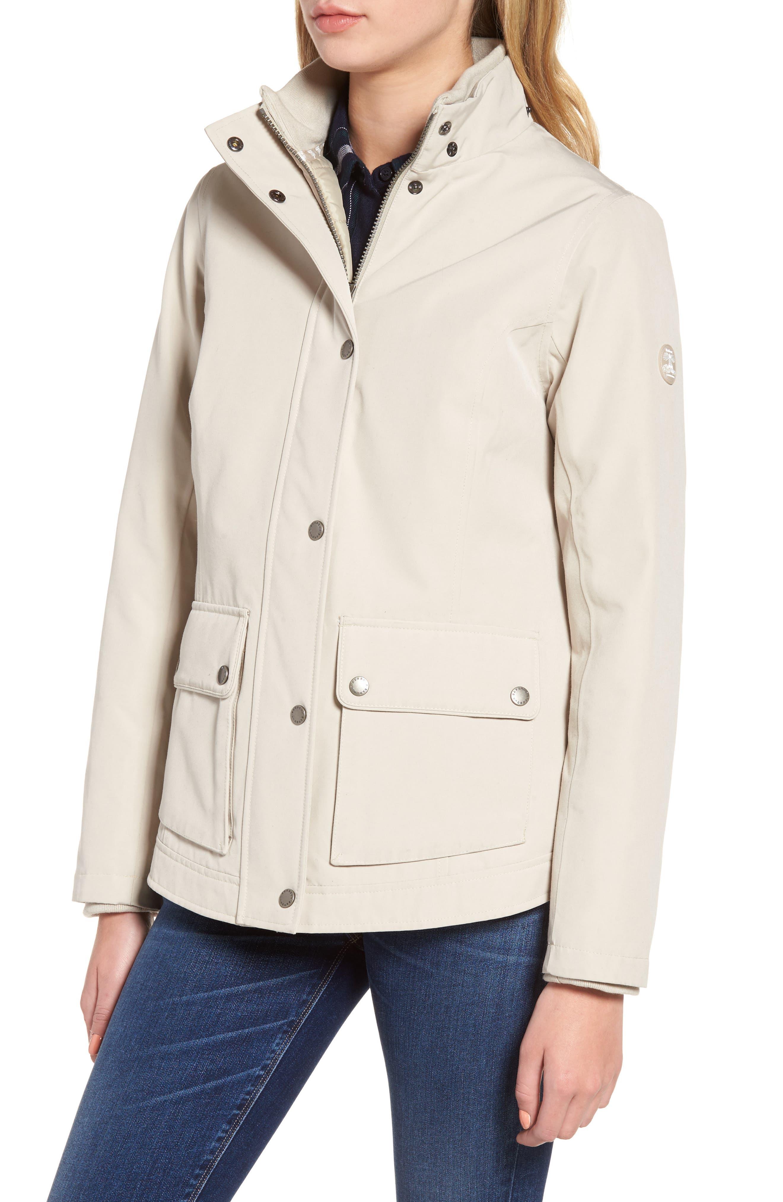 Seaton Hooded Waterproof Jacket,                             Alternate thumbnail 3, color,                             Mist