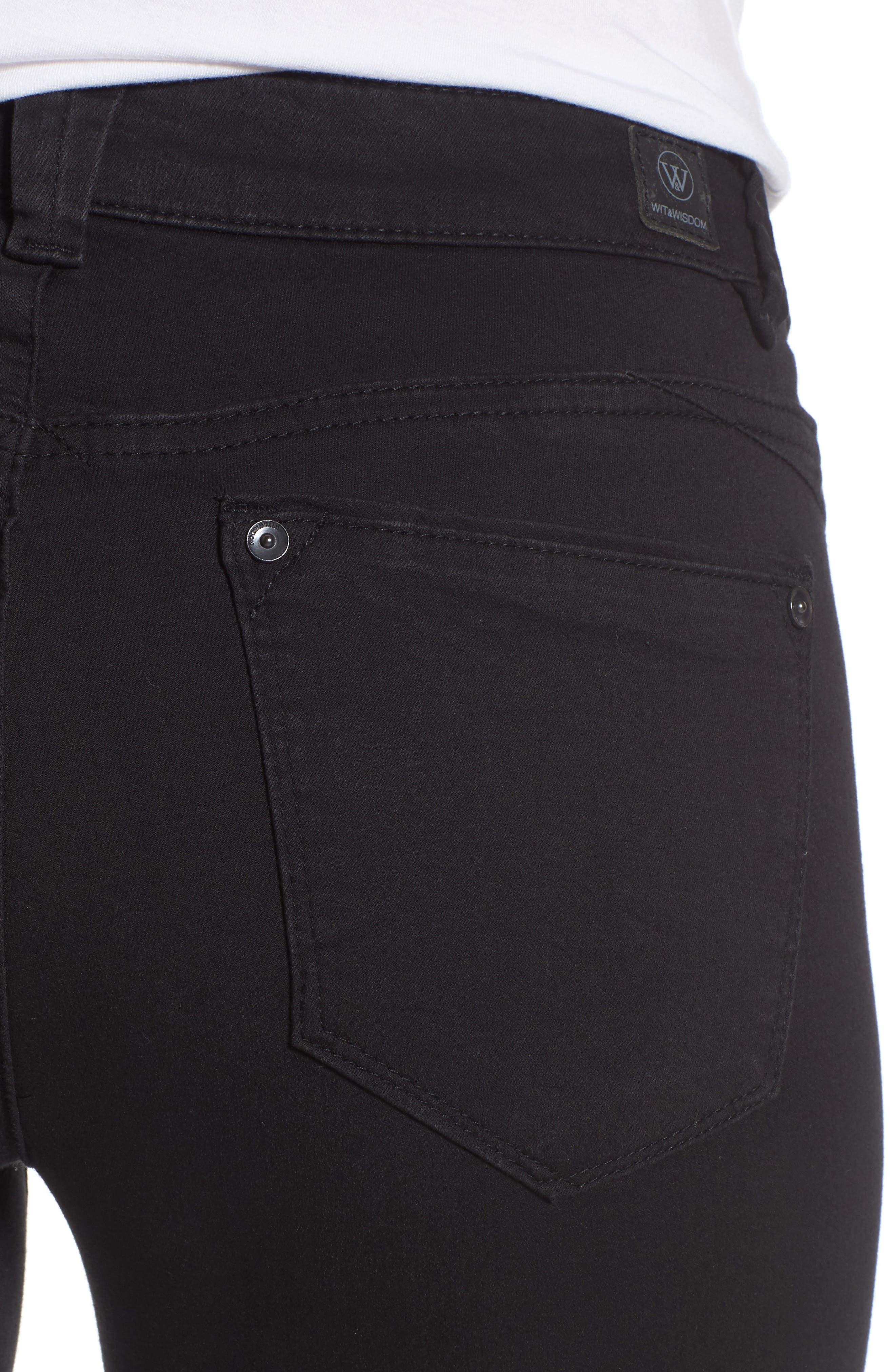 Skinny Jeans,                             Alternate thumbnail 4, color,                             Black