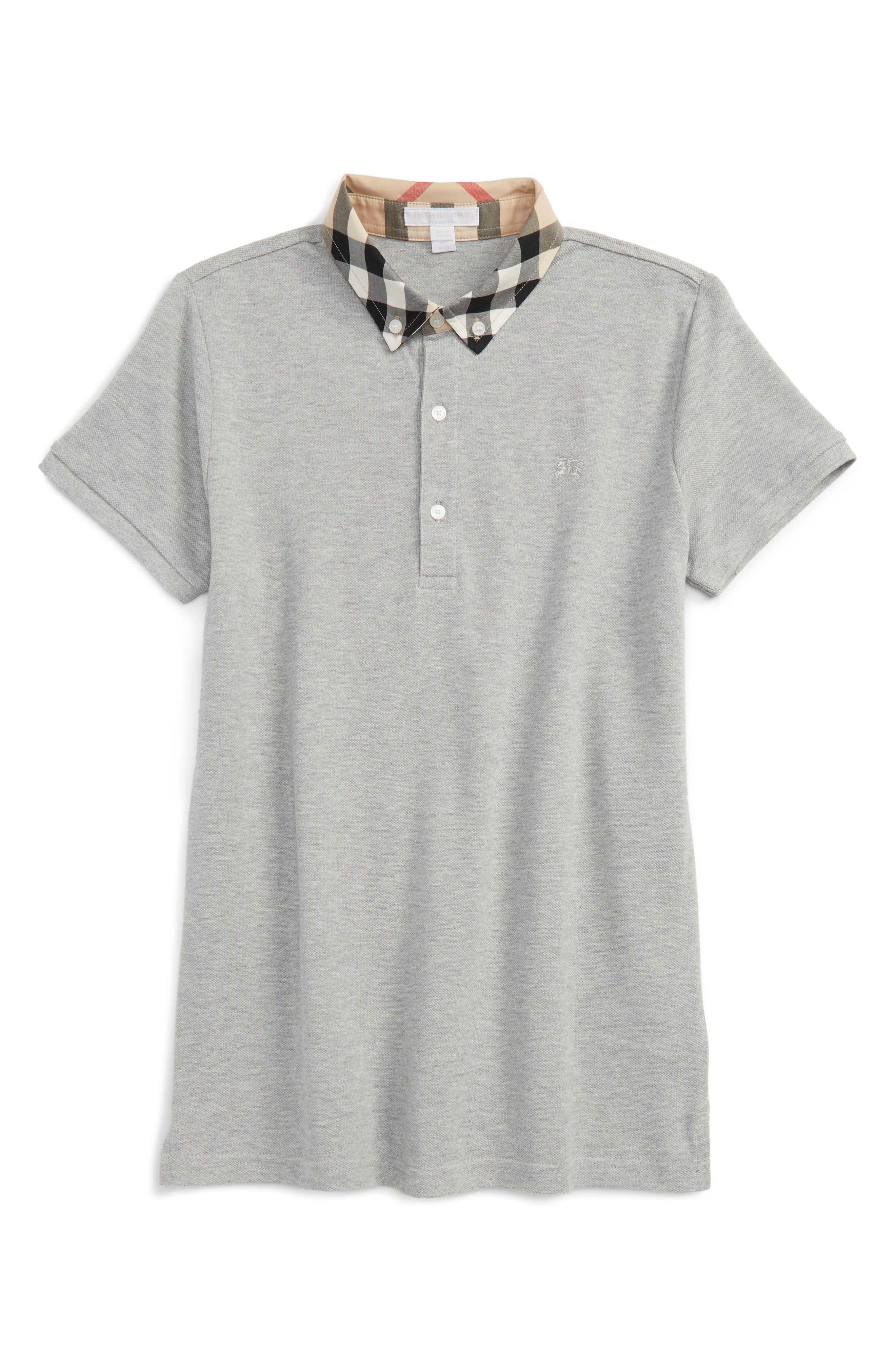 William Cotton Polo,                         Main,                         color, Pale Grey Melange