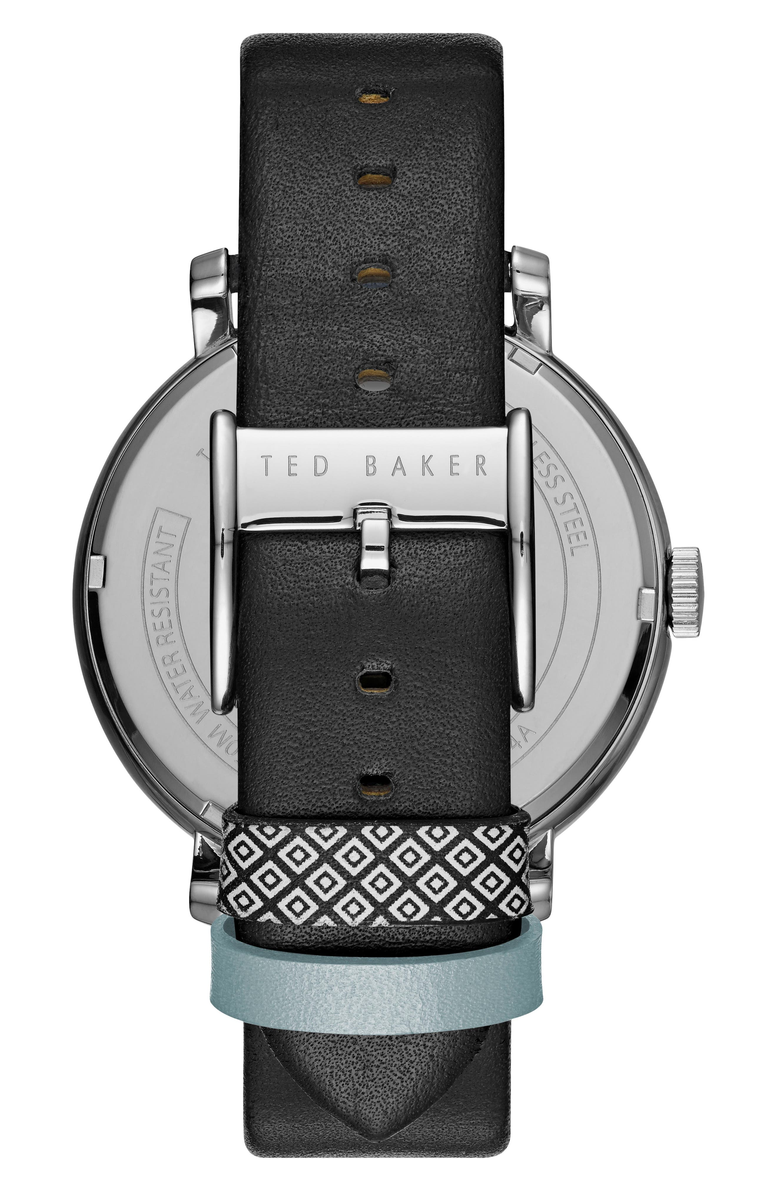 Alternate Image 2  - Ted Baker London Oliver Leather Strap Watch, 44mm