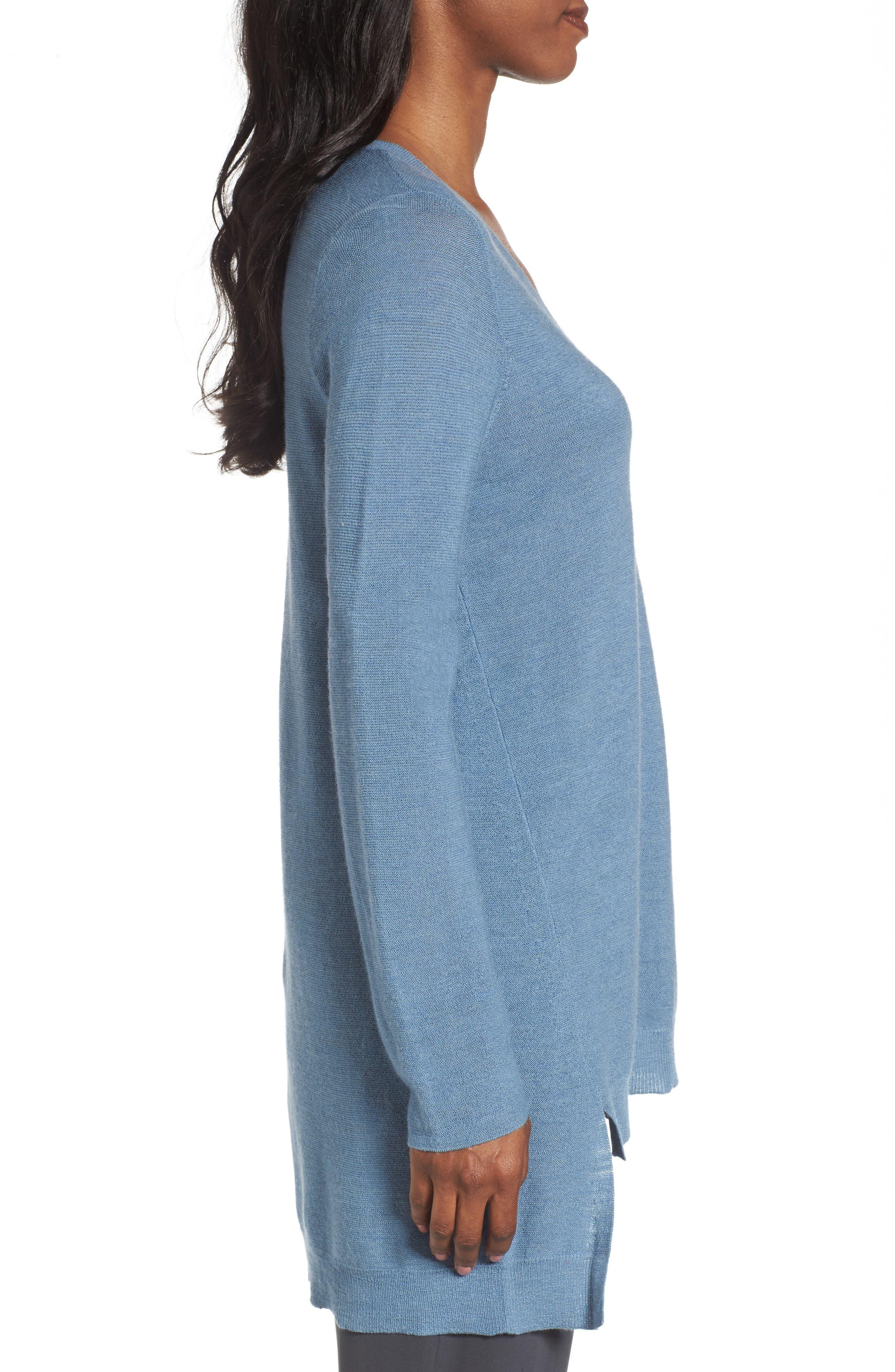 Alternate Image 3  - Eileen Fisher High/Low Merino Wool Sweater