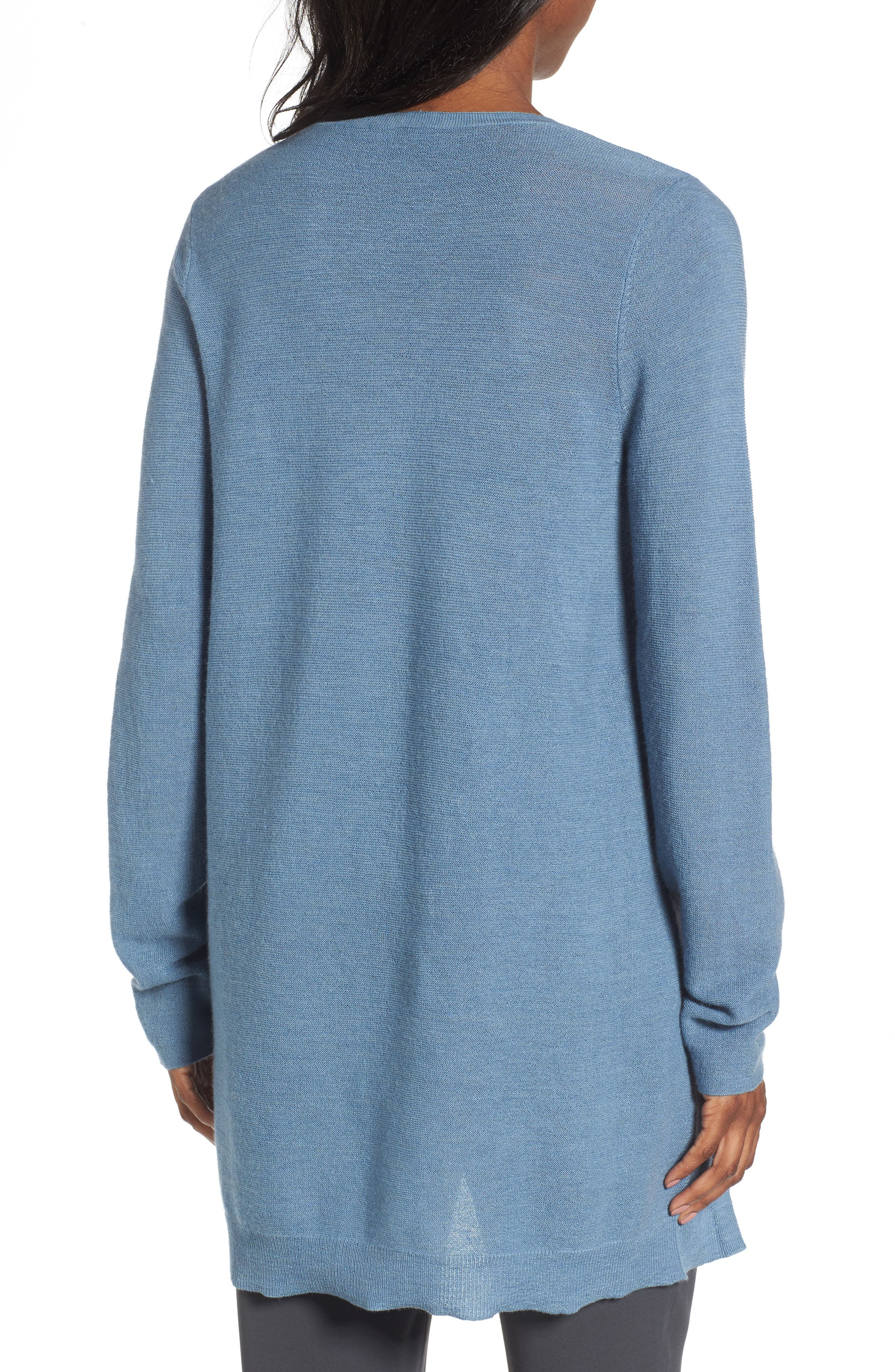 Alternate Image 2  - Eileen Fisher High/Low Merino Wool Sweater