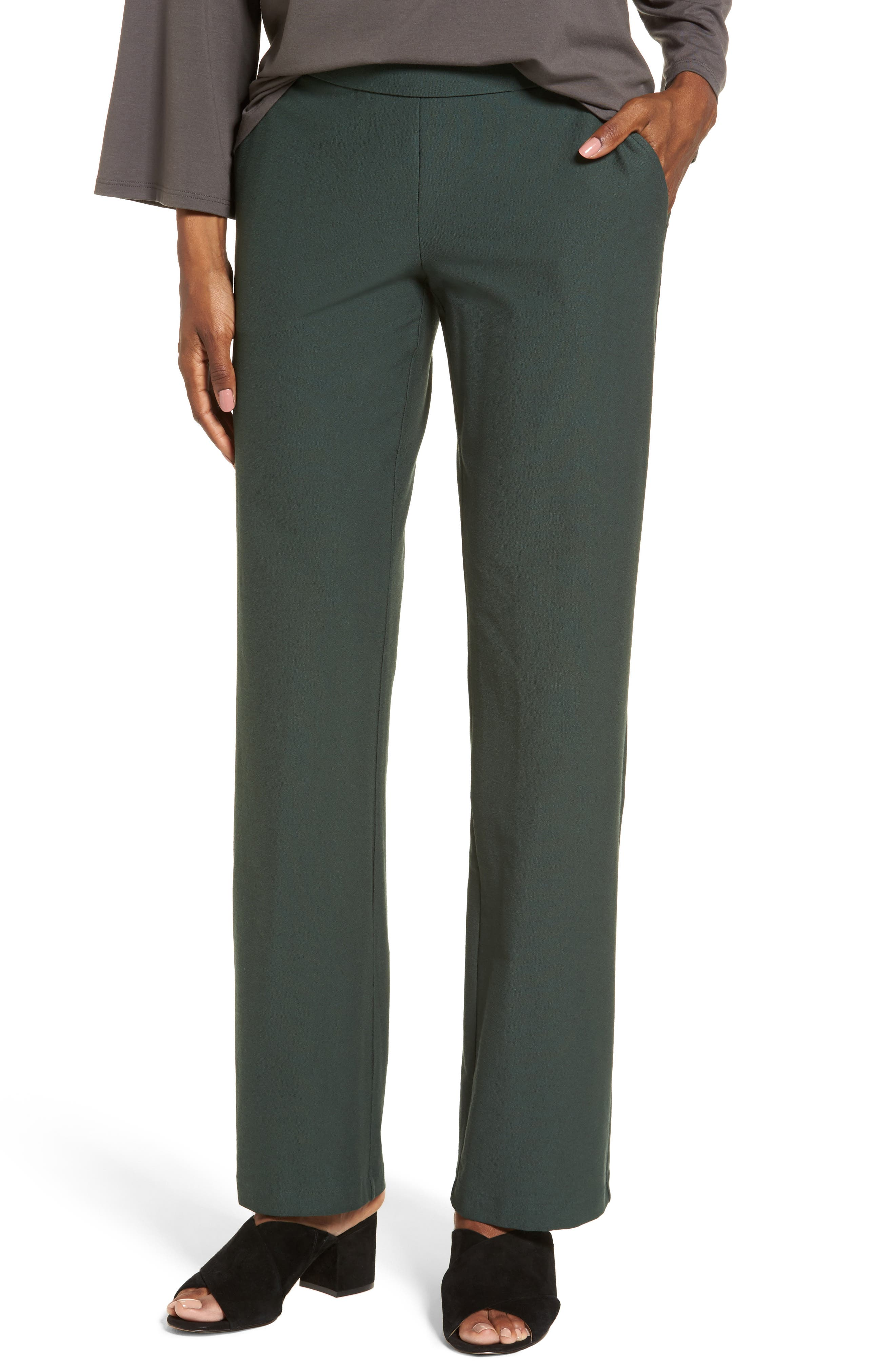Alternate Image 1 Selected - Eileen Fisher Straight Leg Pants