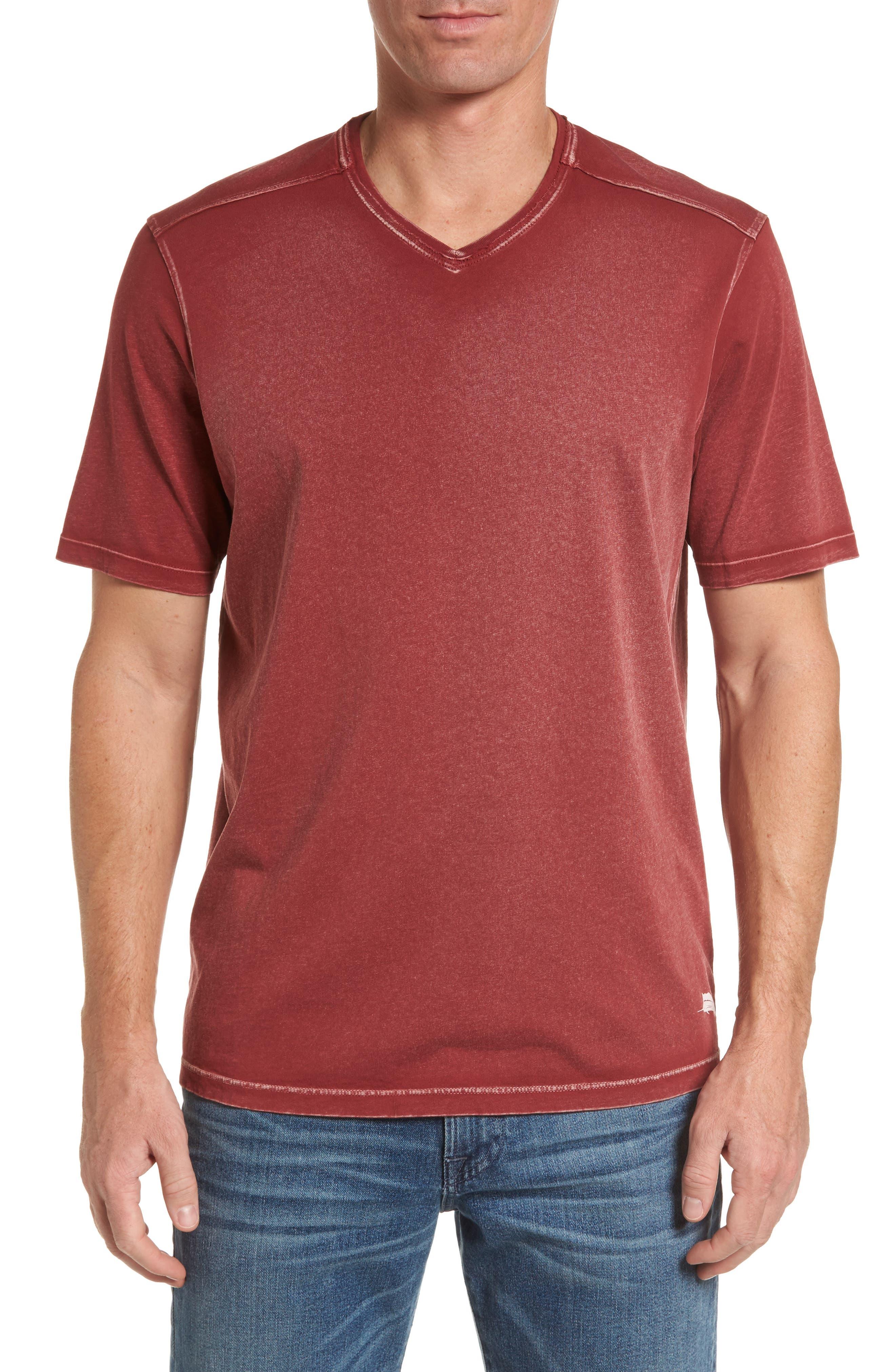 'Kahuna' V-Neck T-Shirt,                             Main thumbnail 1, color,                             Ruby Wine