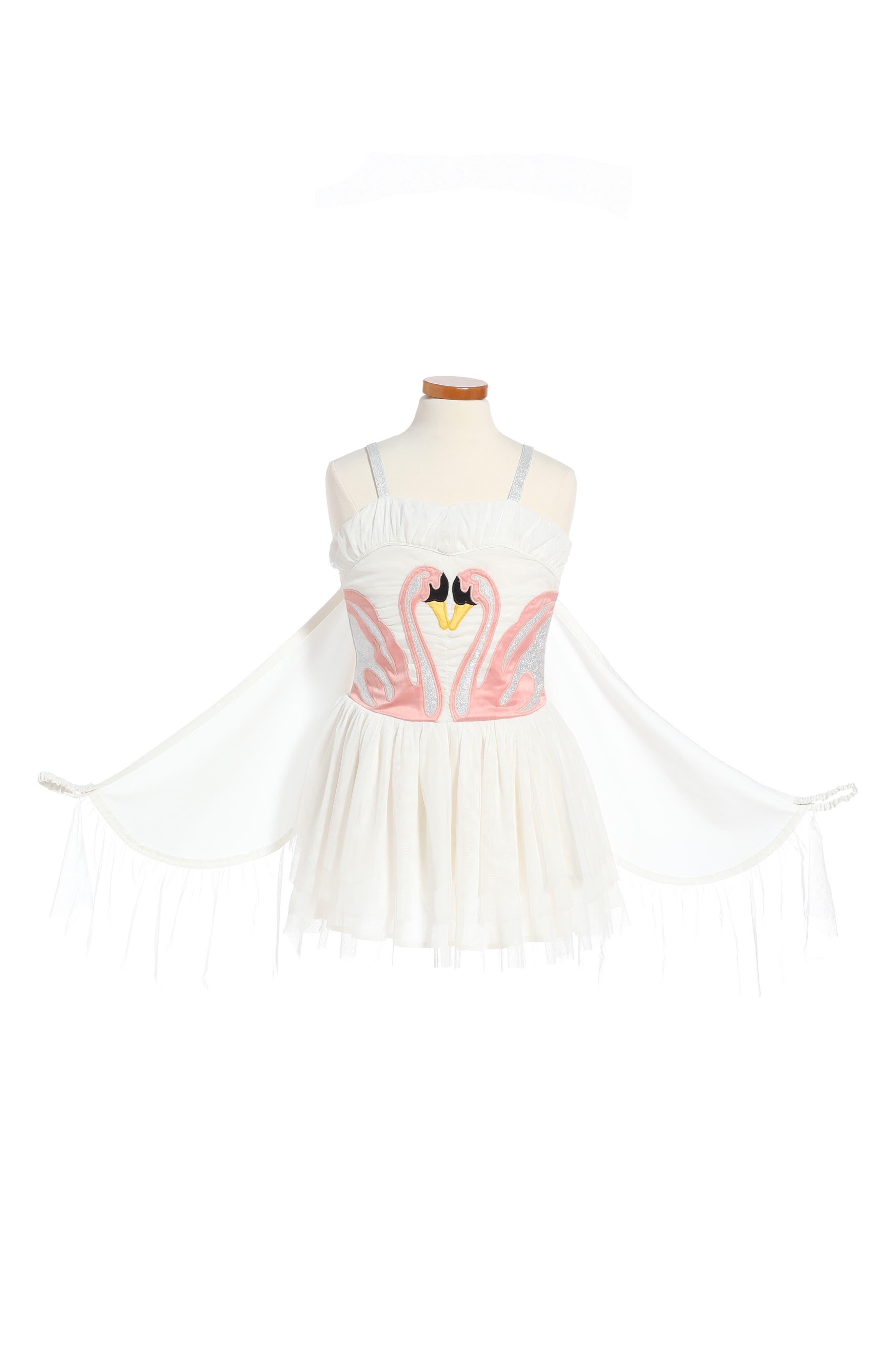Main Image - Stella McCartney Kids Bonny Winged Swan Tulle Dress (Big Girl)