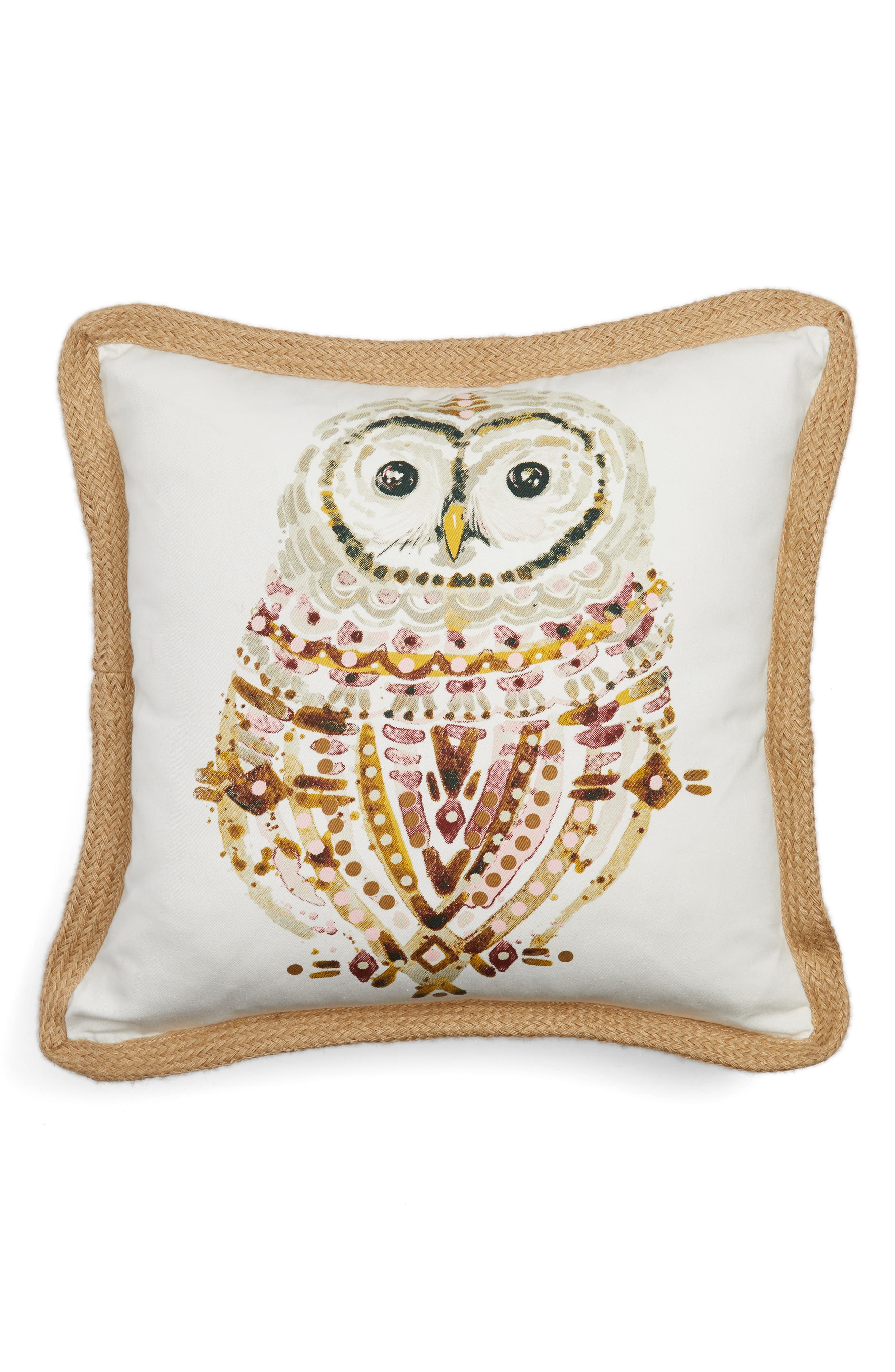 Owl Pillow,                         Main,                         color, White